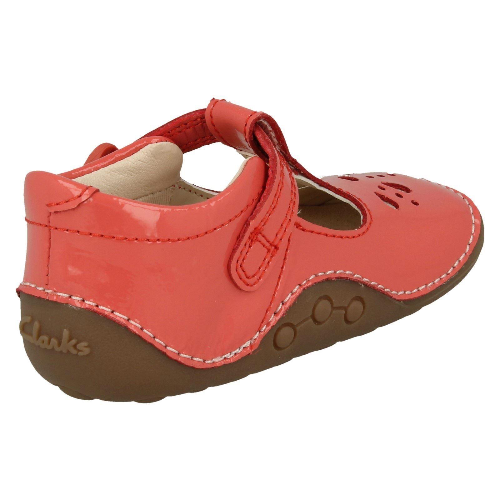 Infant Girls Clarks T-Bar Cruisers *Little Weave*