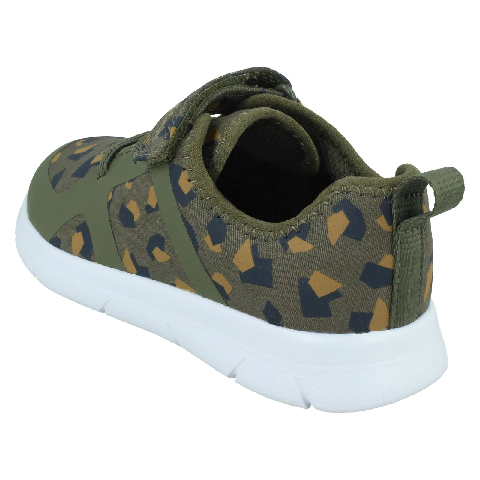 Childrens Unisex Clarks Casual Hook /& Loop Trainers Ath Flux T