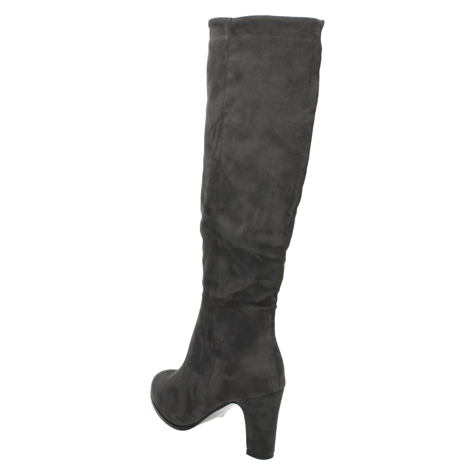 Ladies Spot On Heeled *Knee High Boots*