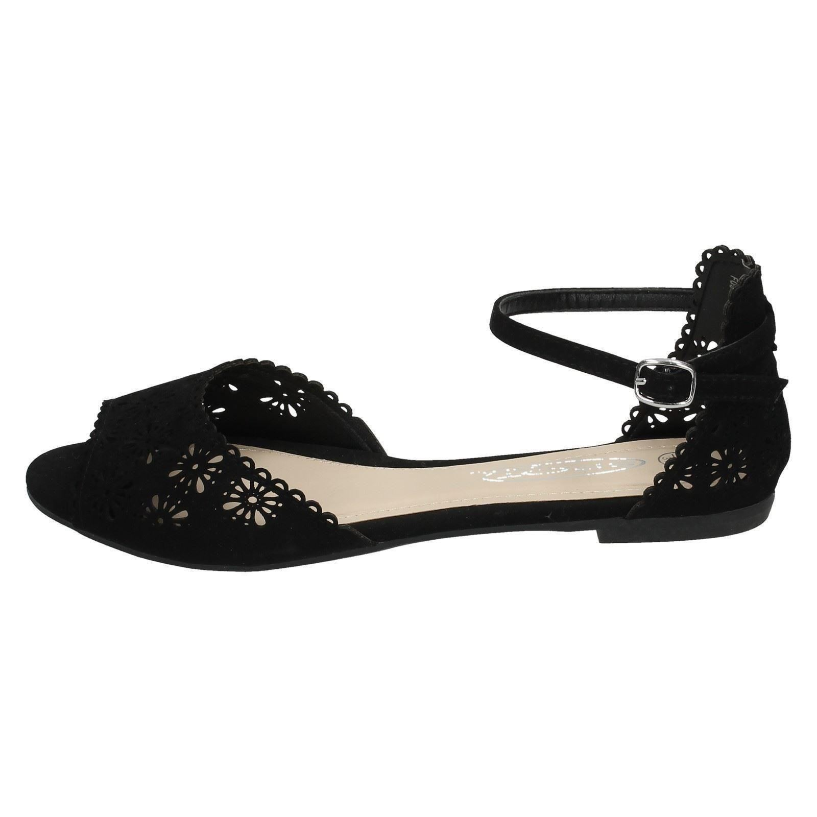 Ladies Spot On Knotted Vamp Sandal