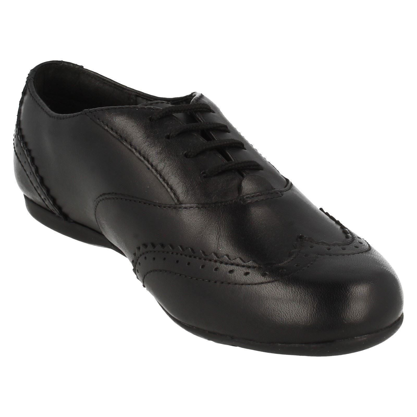 Girls Clarks Leather Lace-Up Formal School Shoes *Dance Honey*