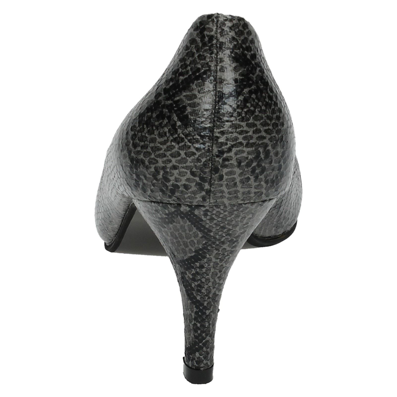Ladies Spot On Snake Print *Court Shoes*