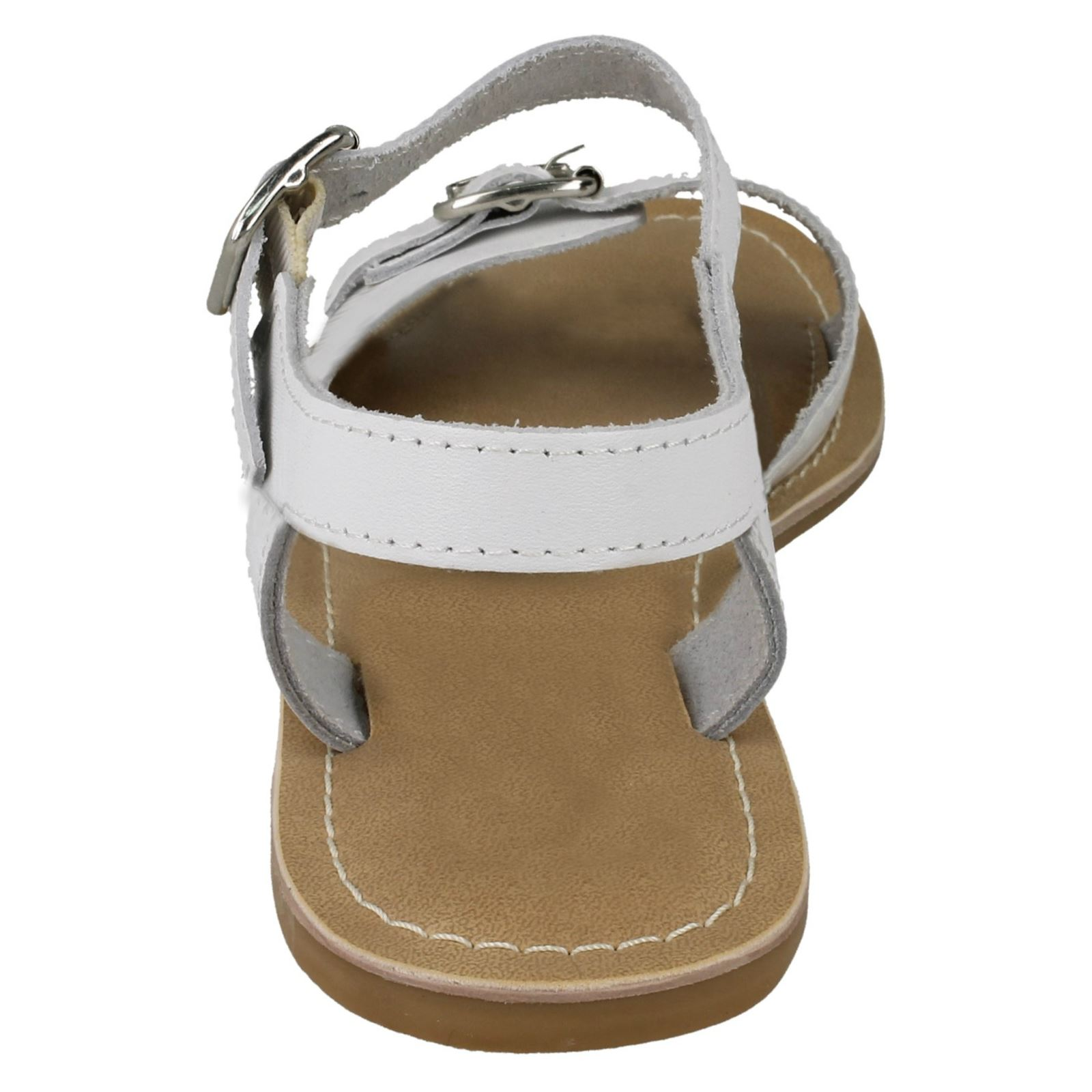 Ladies Leather Collection Ankle Strap Buckle Fastening Classic Sandals F0R0149
