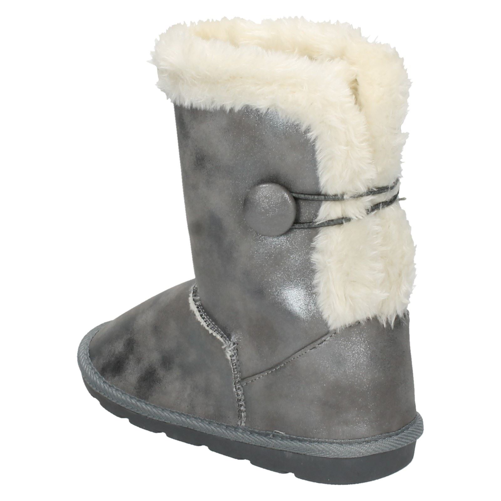 Details about  //'Girls Spot On/' Faux Fur Lined Winter Boots H4R101