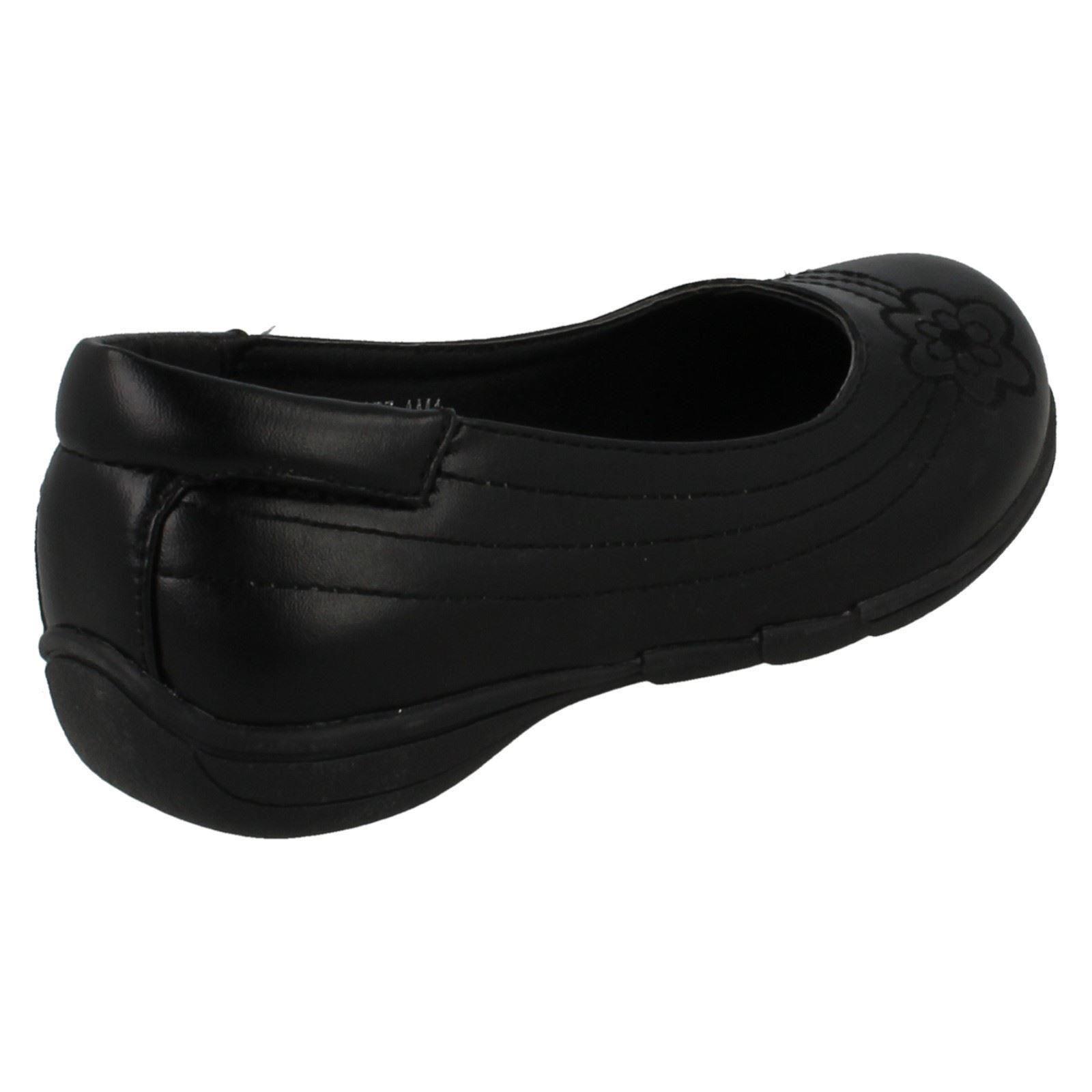 Girls Spot On Slip On /'School Shoes/'