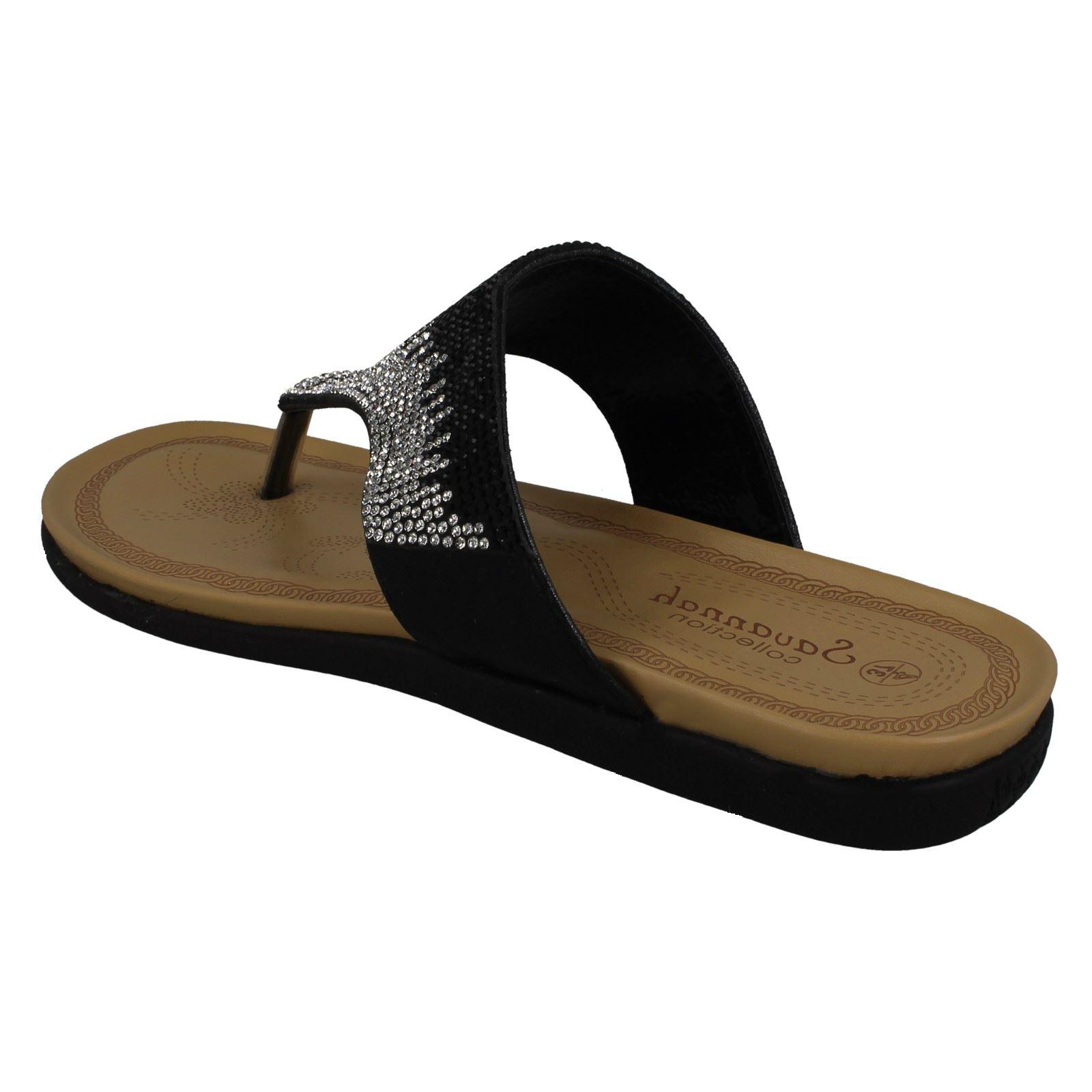 Ladies Savannah Diamante Toepost Sandals
