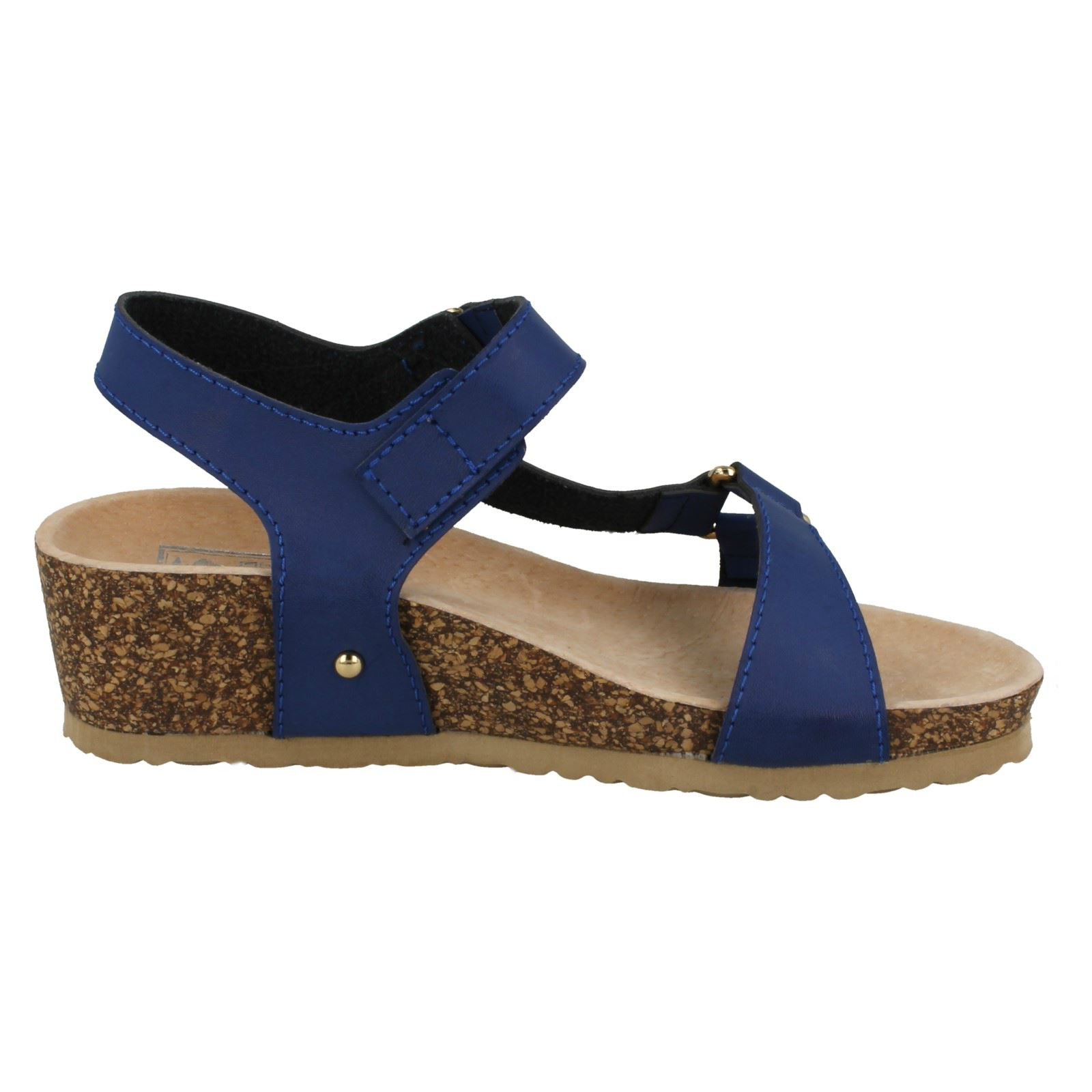 Ladies Down To Earth Mid Wedge /'Ankle Strap Sandals/'