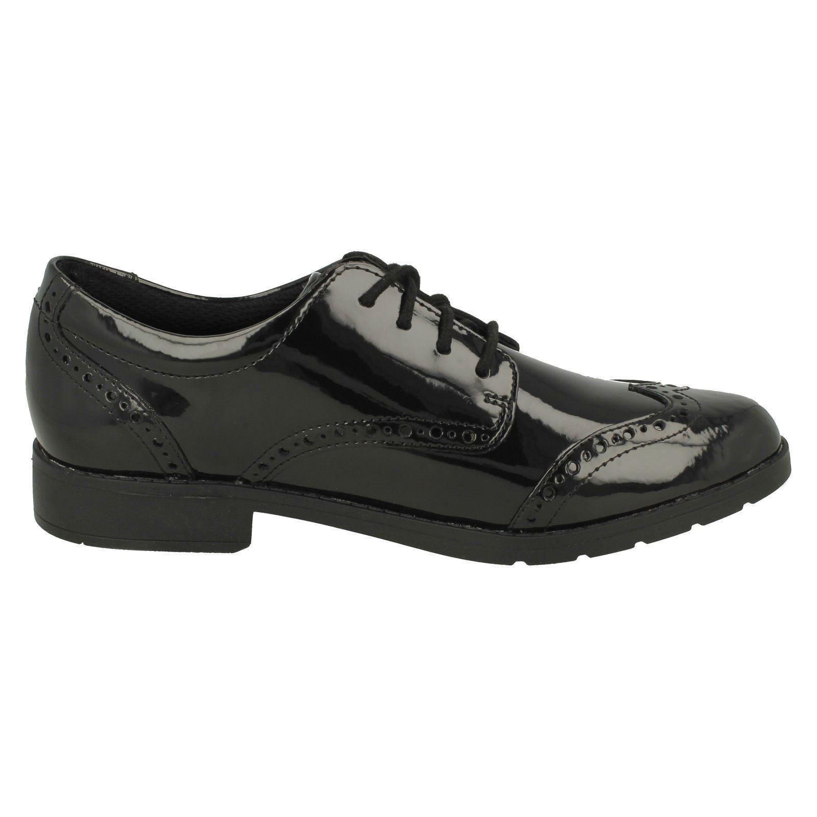 Chicas Clarks Zapatos Con Cordones Estilo Escuela /'Aubrie Craft y/'
