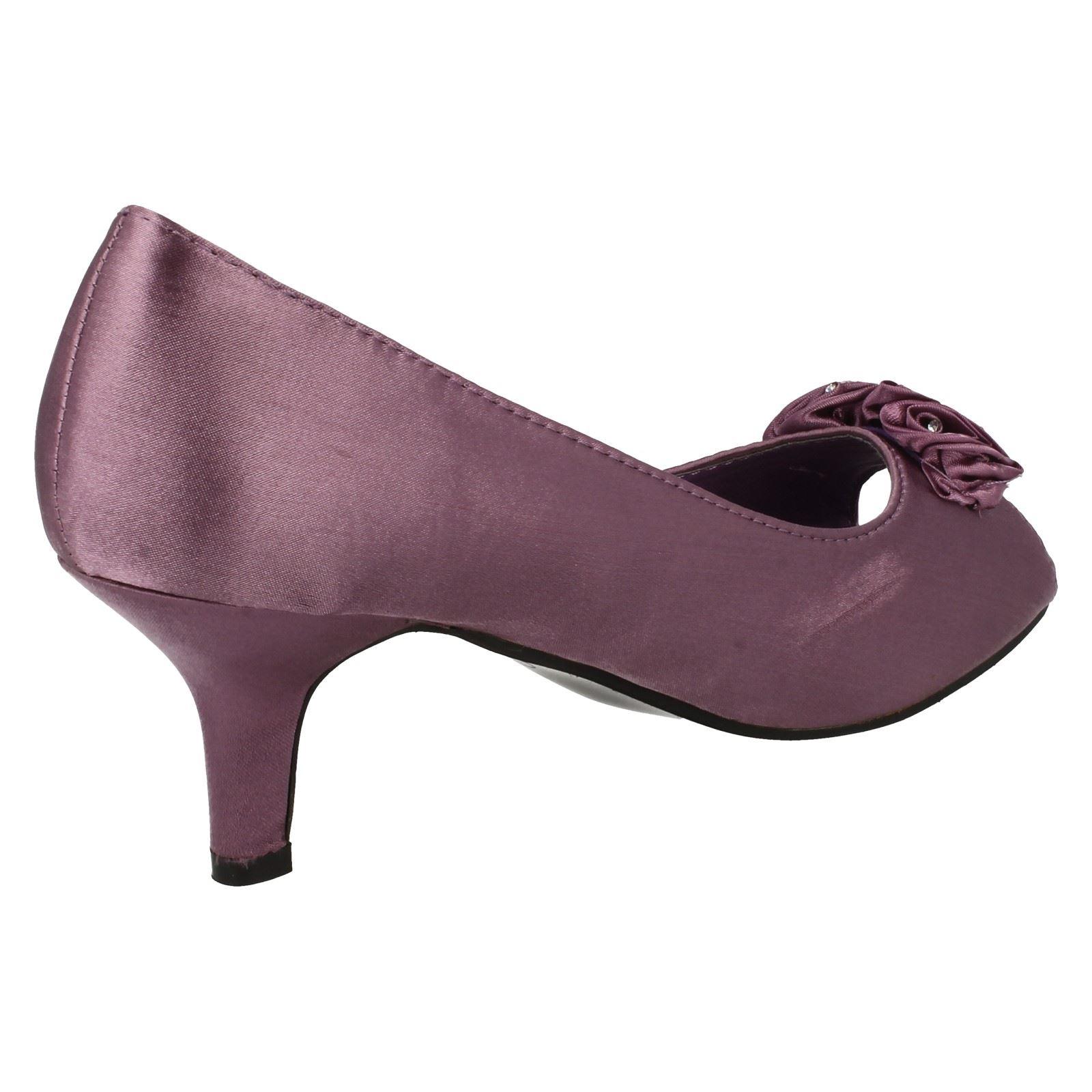 Ladies Spot On Peep Toe Shoes