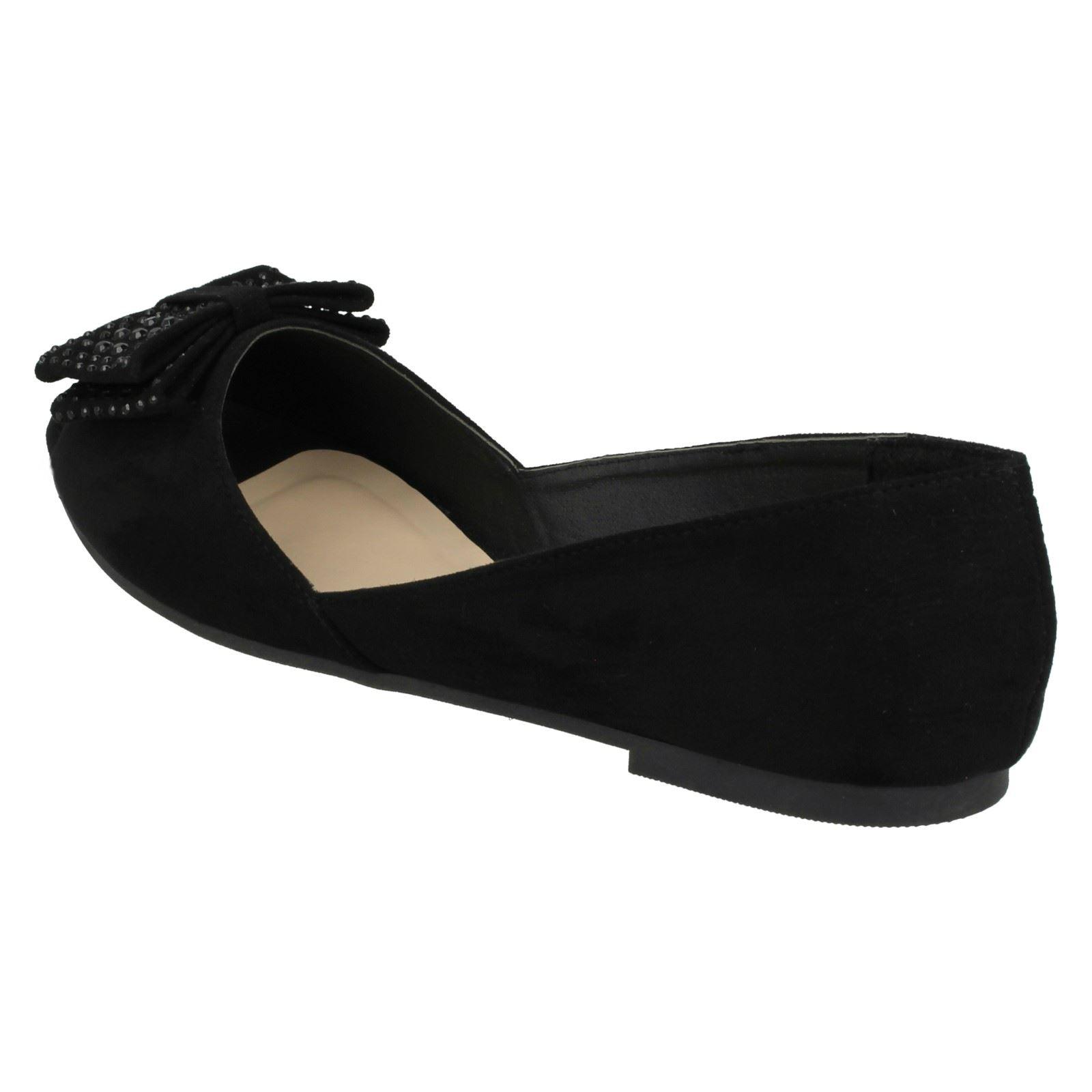 Ladies Spot On Peep Toe *Ballerinas*