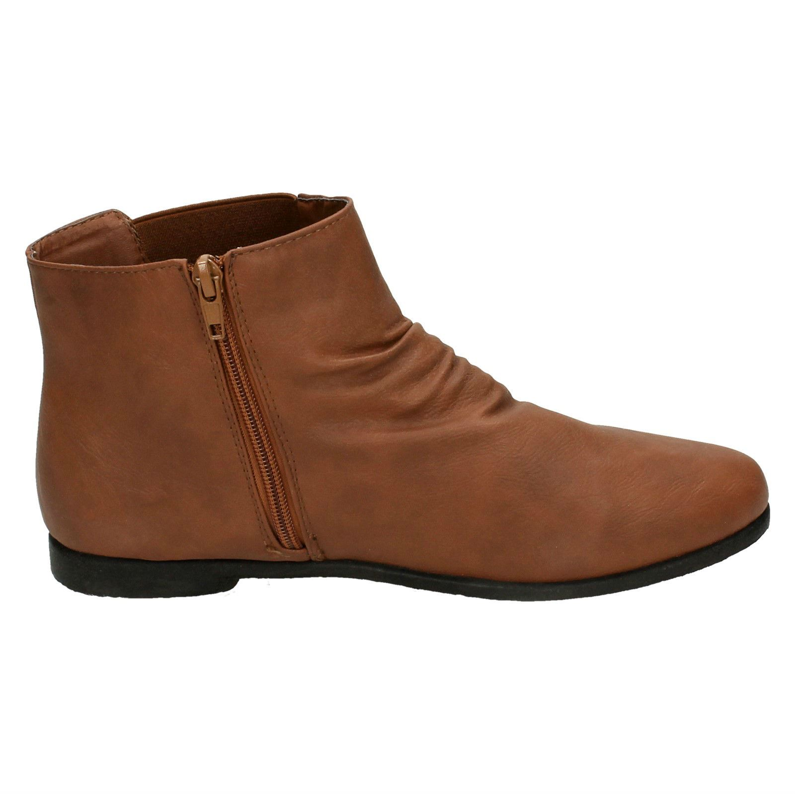 Ladies Spot On Side Gusset Ankle Boots