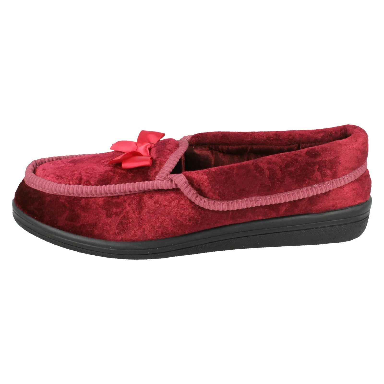 Ladies Four Seasons Slippers With Bow Detail