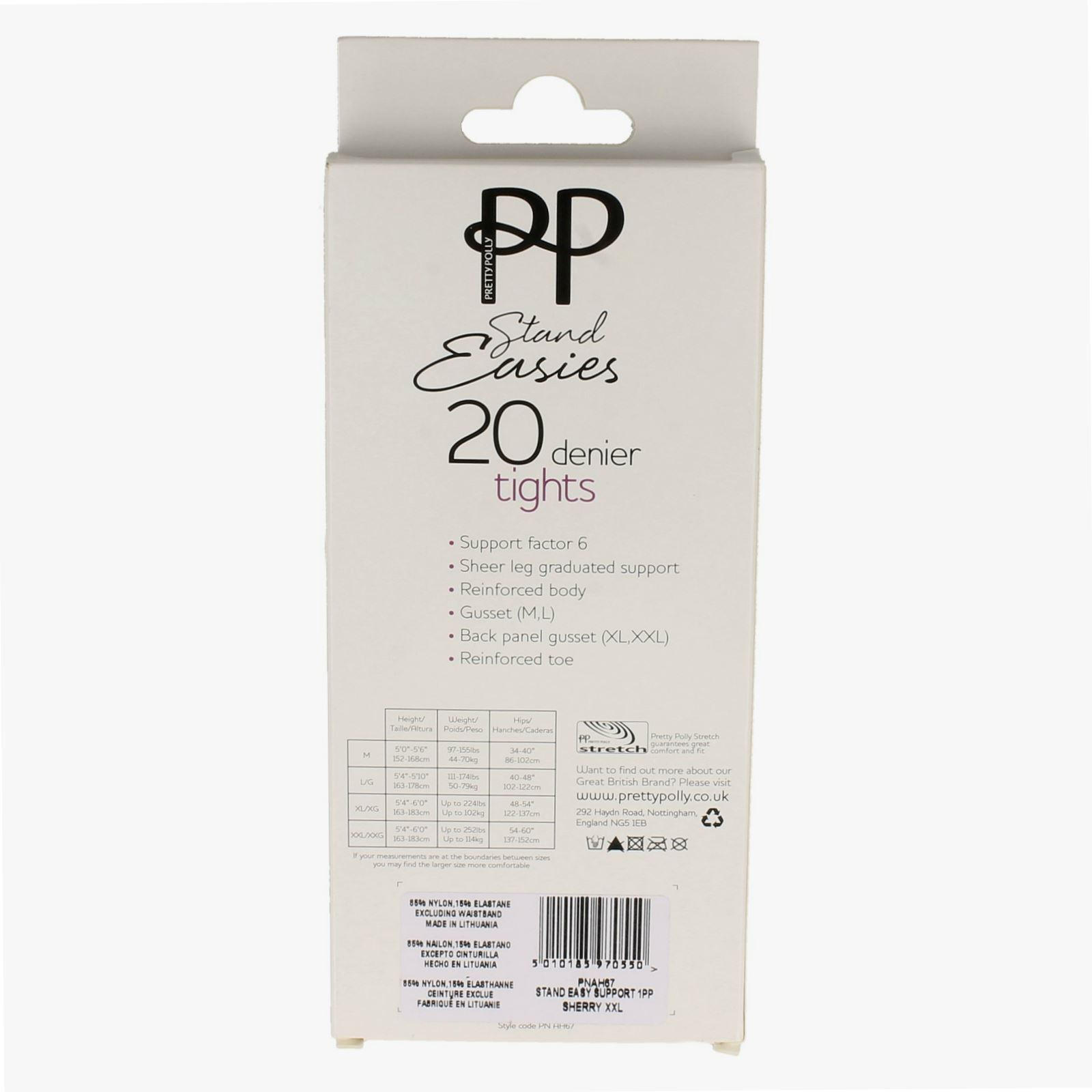 Ladies Pretty Polly Stand Easies 20 Denier Tights