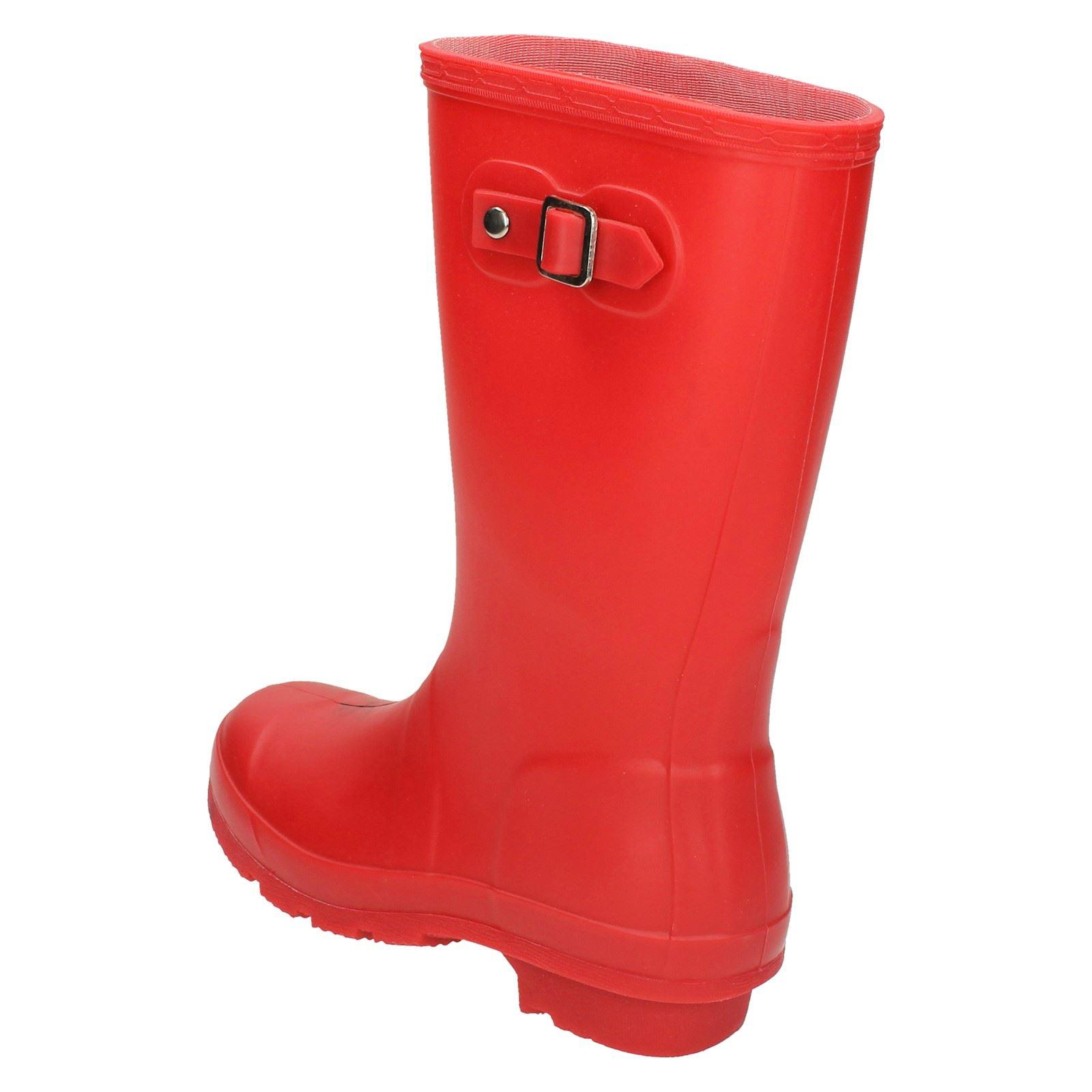 Childrens Spot On Buckle Detail Wellington Boots
