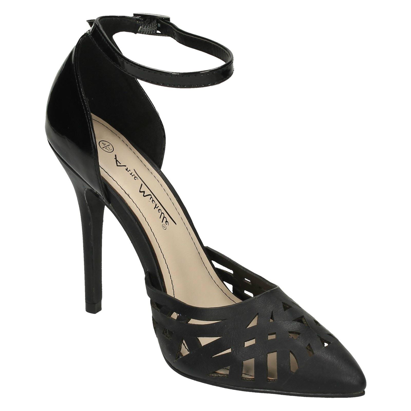 Ladies Anne Michelle Ankle Strap /'Court Shoes/'