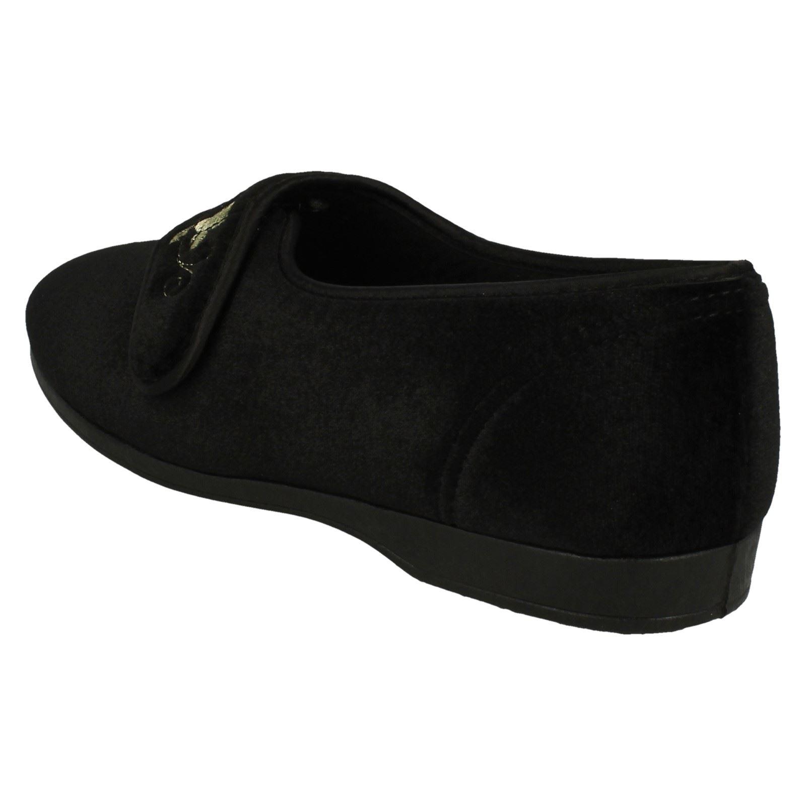 Ladies Free-Step Velcro Full Slipper /'KV785/'