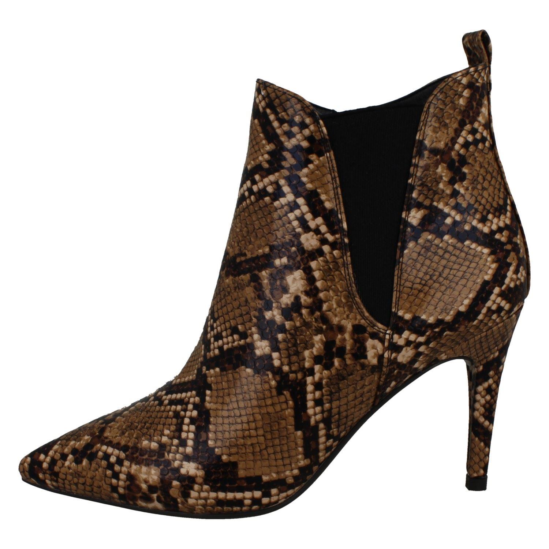 "Femmes Spot On Serpent Imprimé /""Bottines/'s"