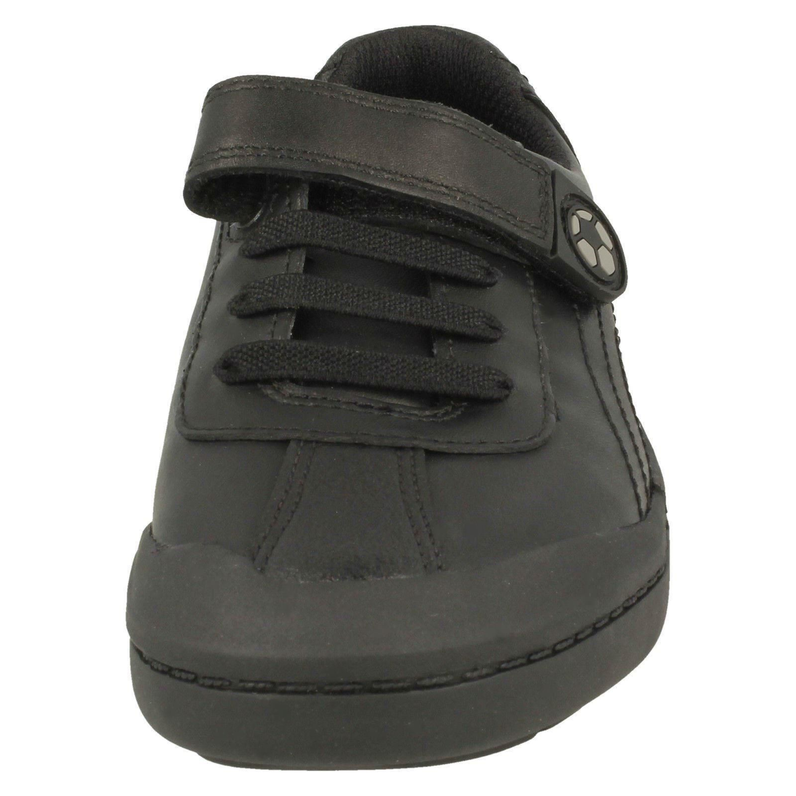Clarks Boys Football Detailed School Shoes Rock Pass