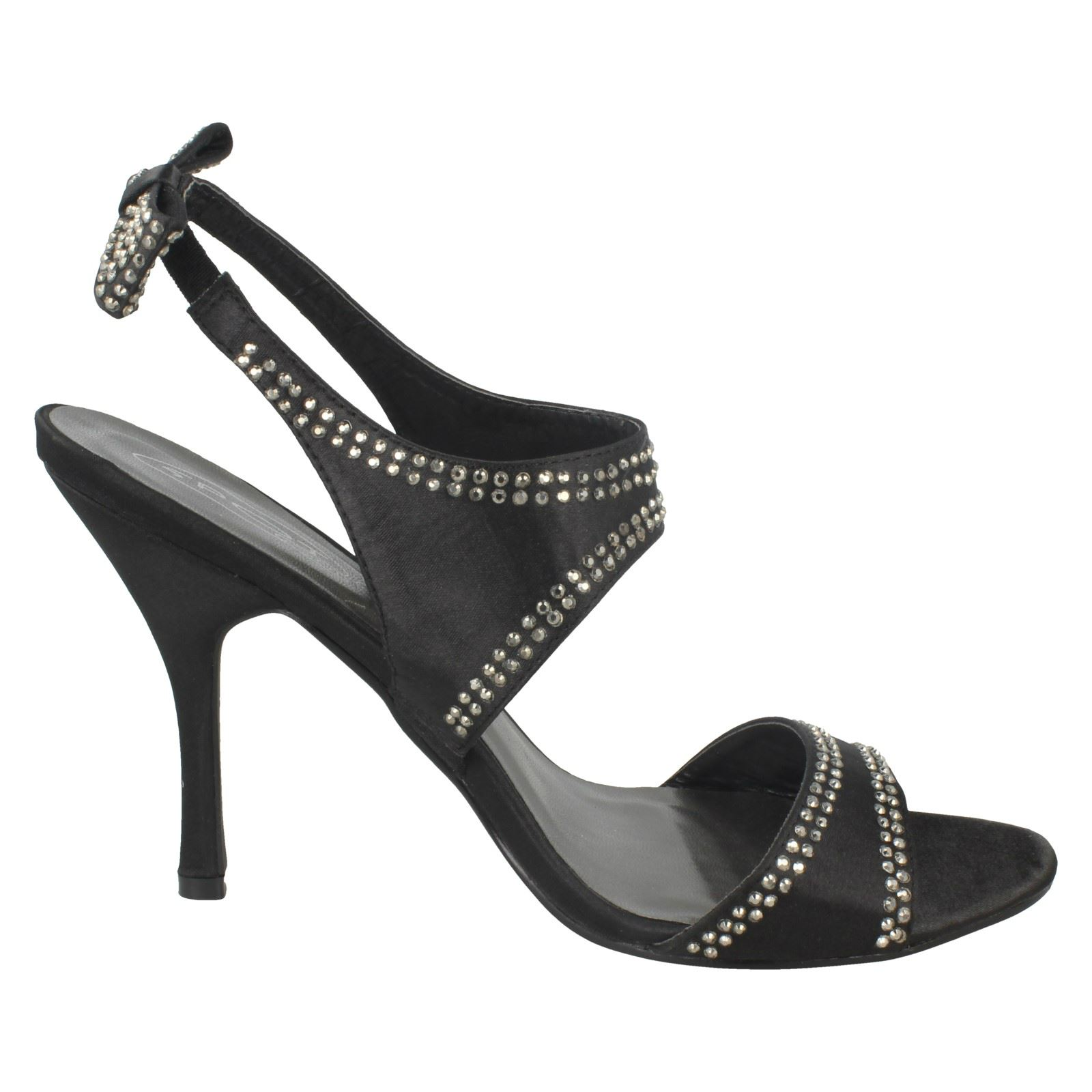Ladies Spot On High Heeled Studded /'Sandals/'