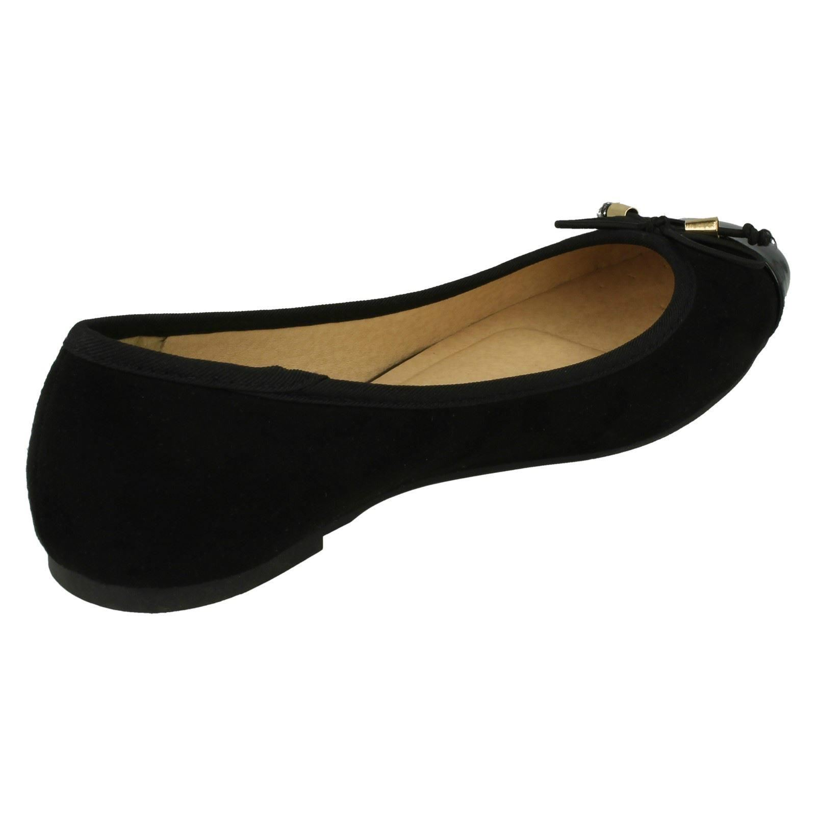 Ladies Spot On Bow Ballerina Shoes