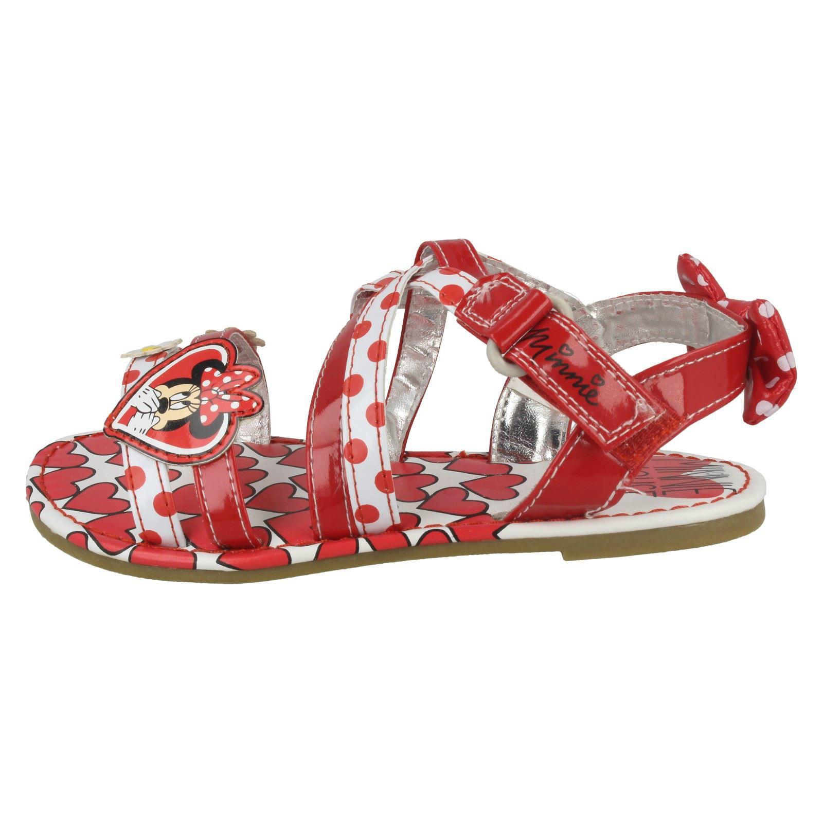 Girls Disney Casual Ankle Strap Sandals /'Minnie Mouse Emilia/'