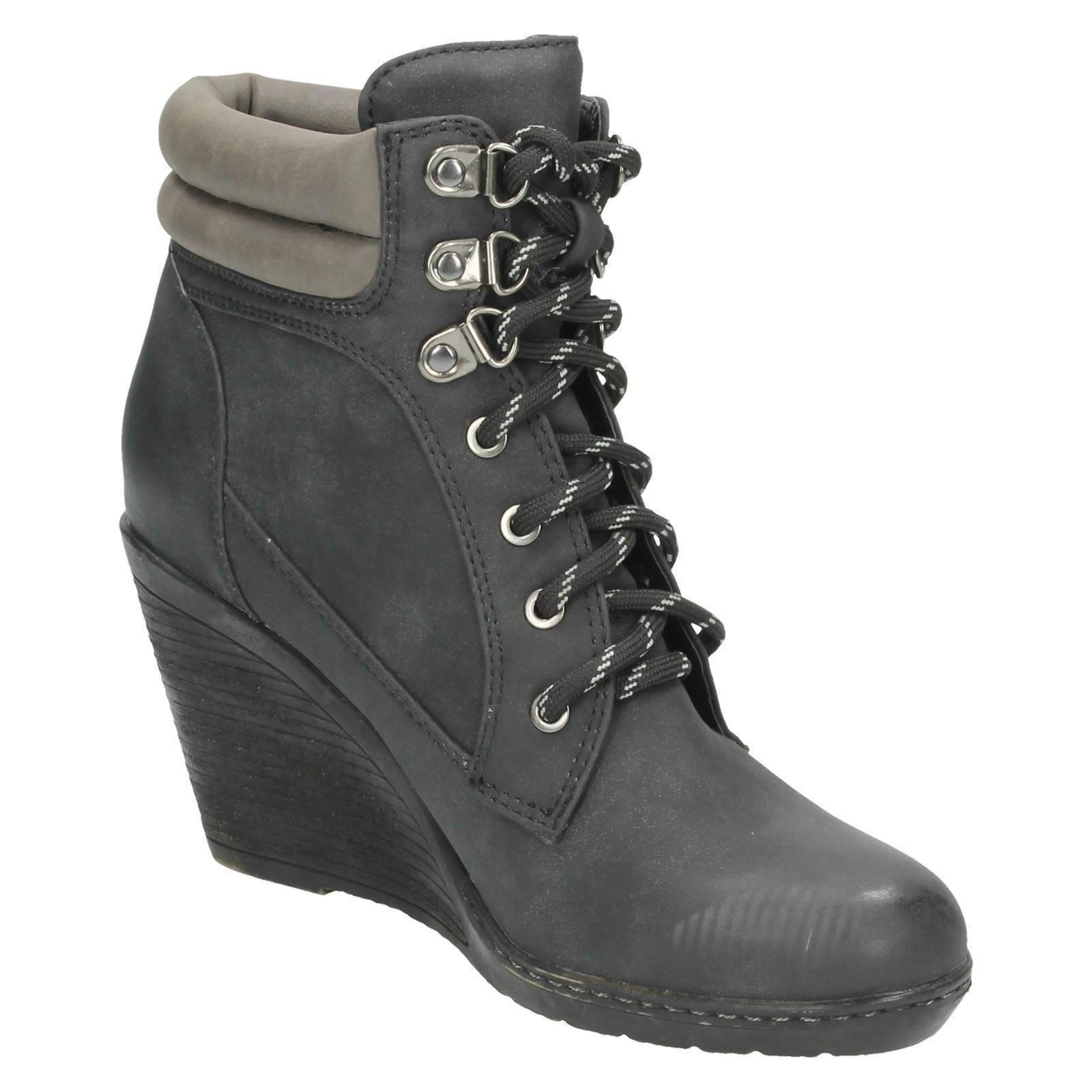 Ladies Spot On Wedge Heel /'Ankle Boots/'