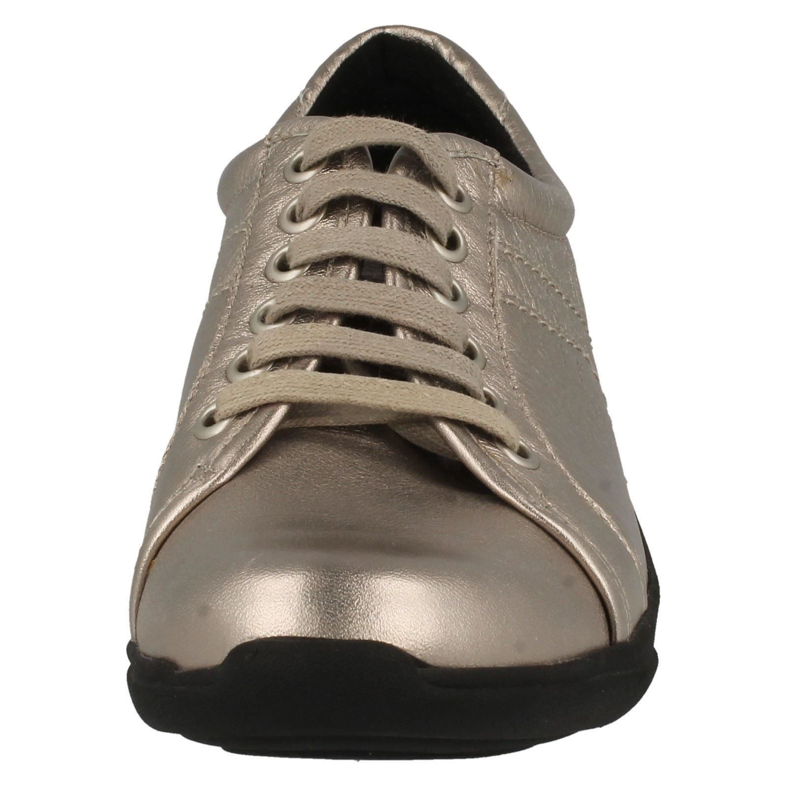 Ladies K/'s By Clarks Lace Up Leather Shoes Etna Musk