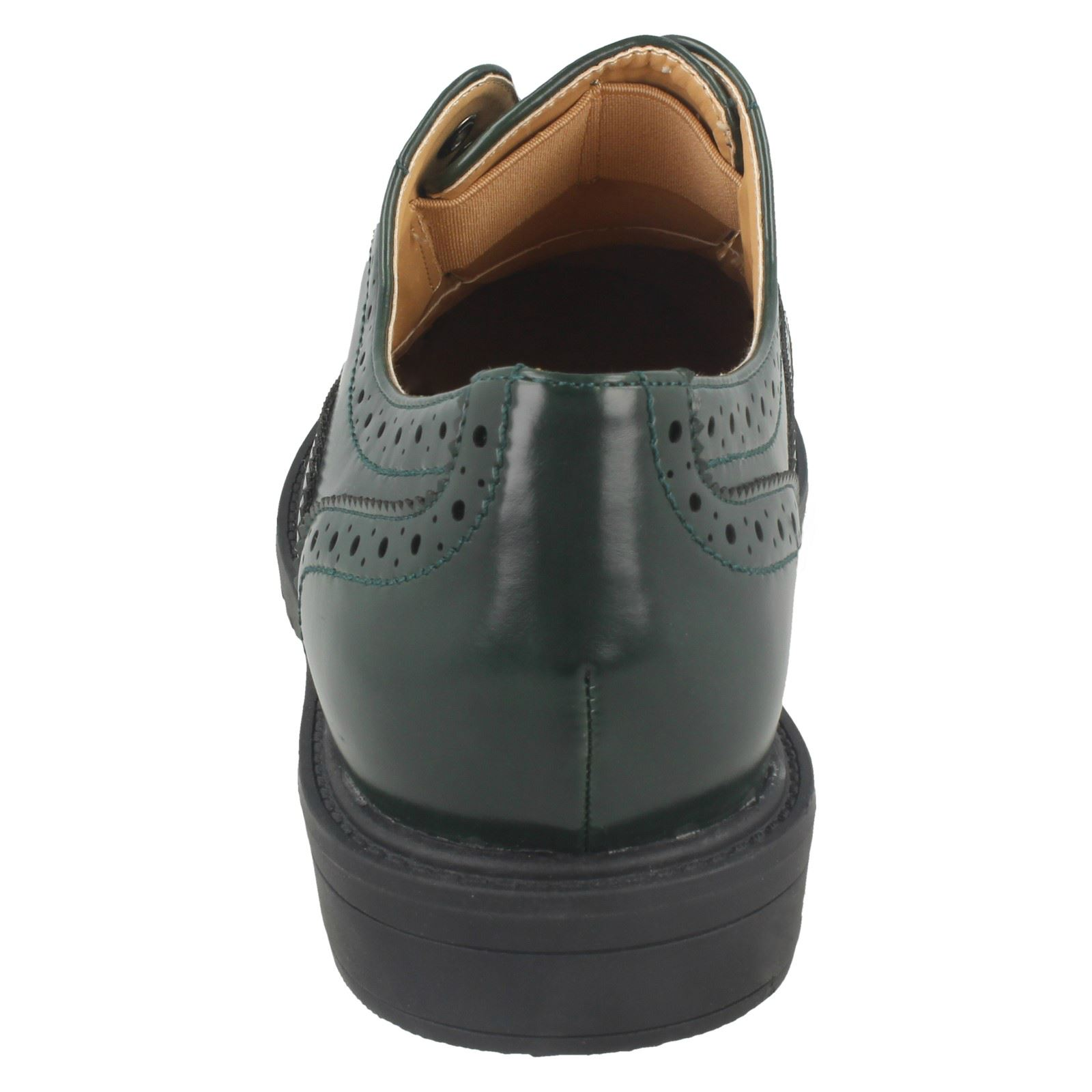 Spot On Ladies Brogue Patterned Shoe