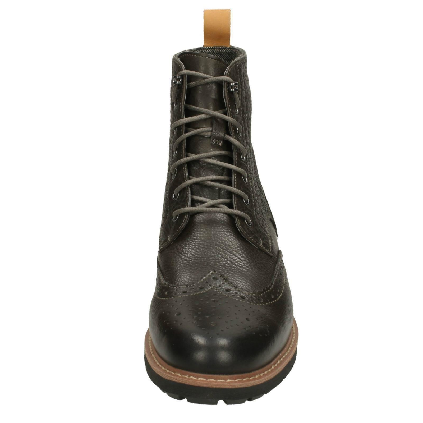 Mens Clarks Brogue-Ankle Boots Batcombe Lord