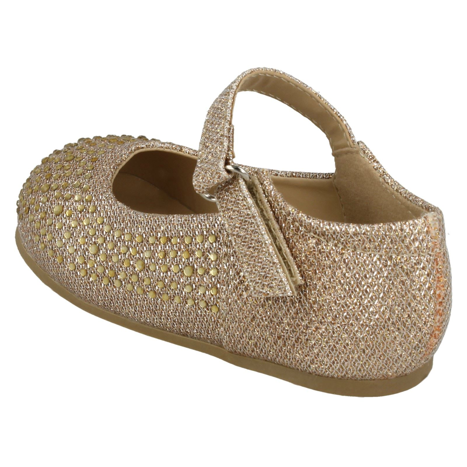 Girls Savannah Diamante Shoes Flat