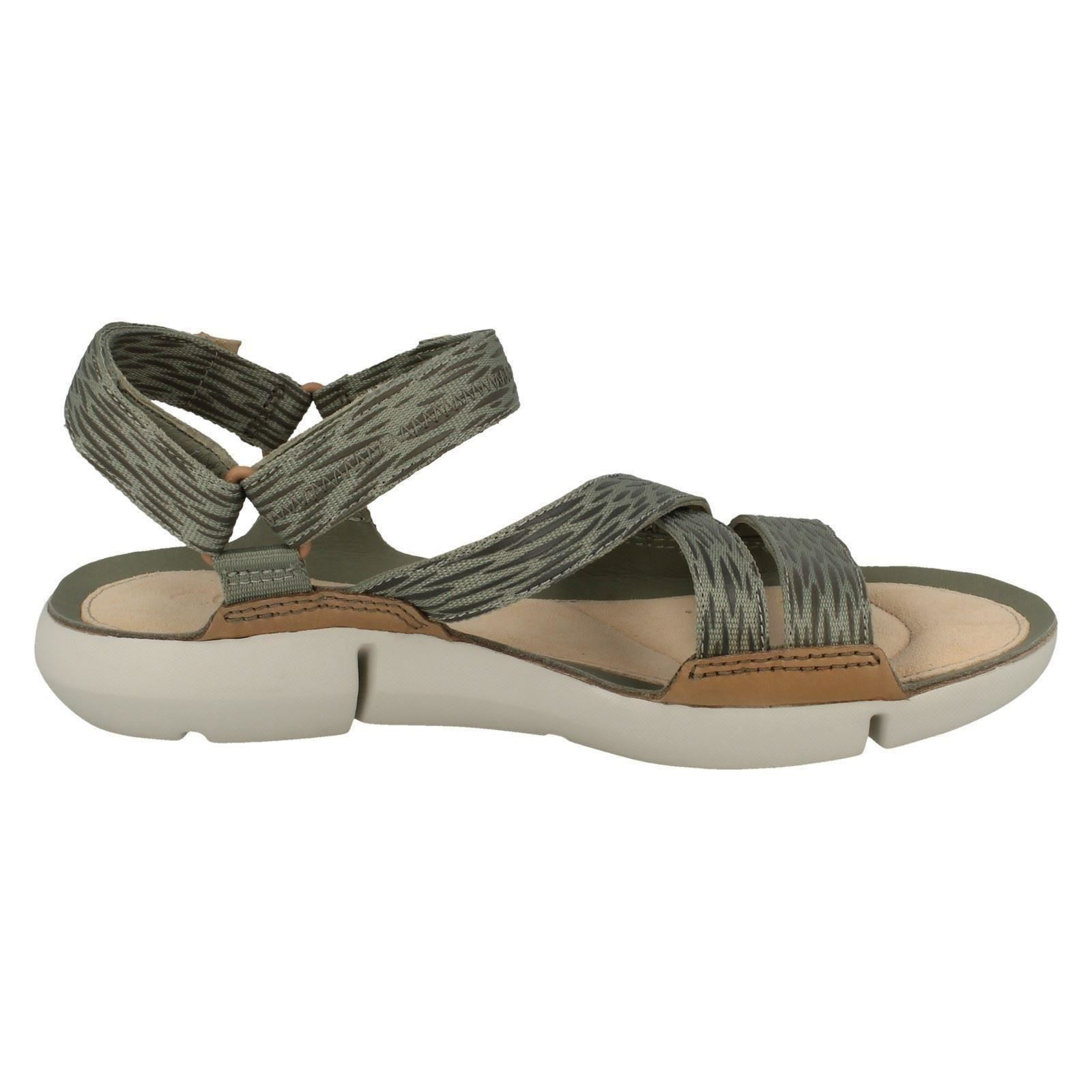 Ladies Clarks Riptape Fastening Open Toe Strappy Sandals /'Tri Sienna/'