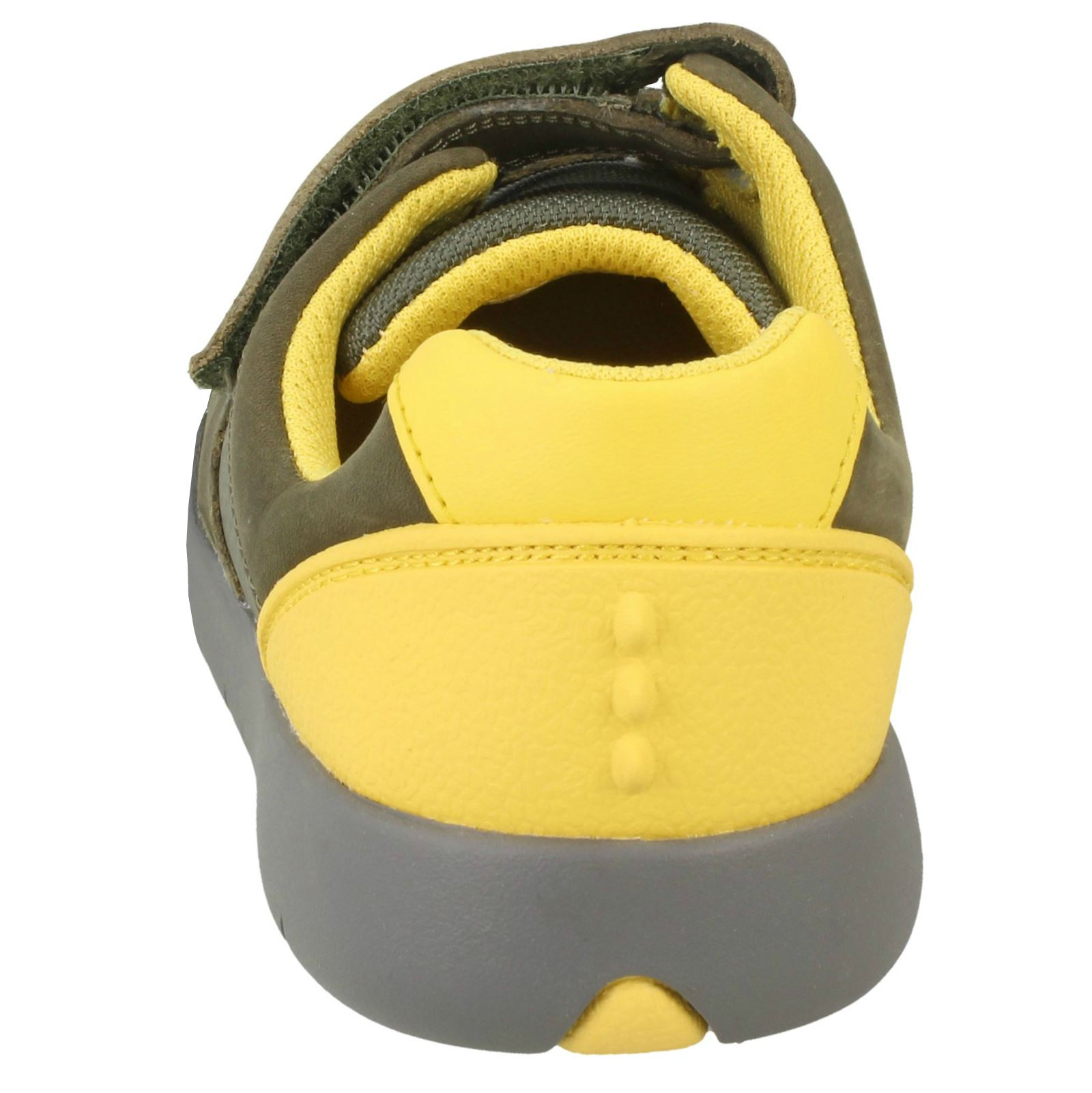Boys Clarks Leather Hook /& Loop Shoes *Rex Quest K*