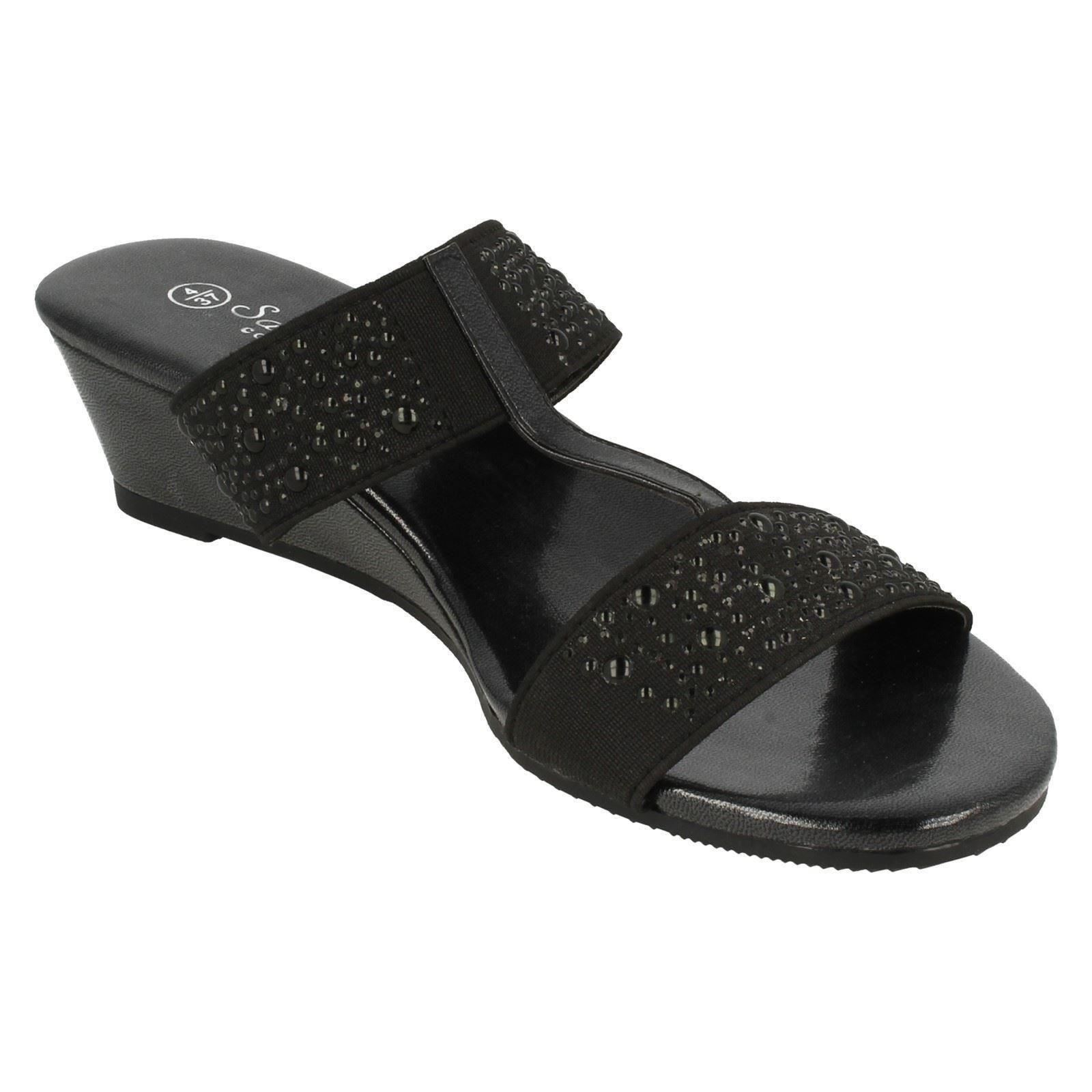 Savannah Ladies Heeled Mule Sandals