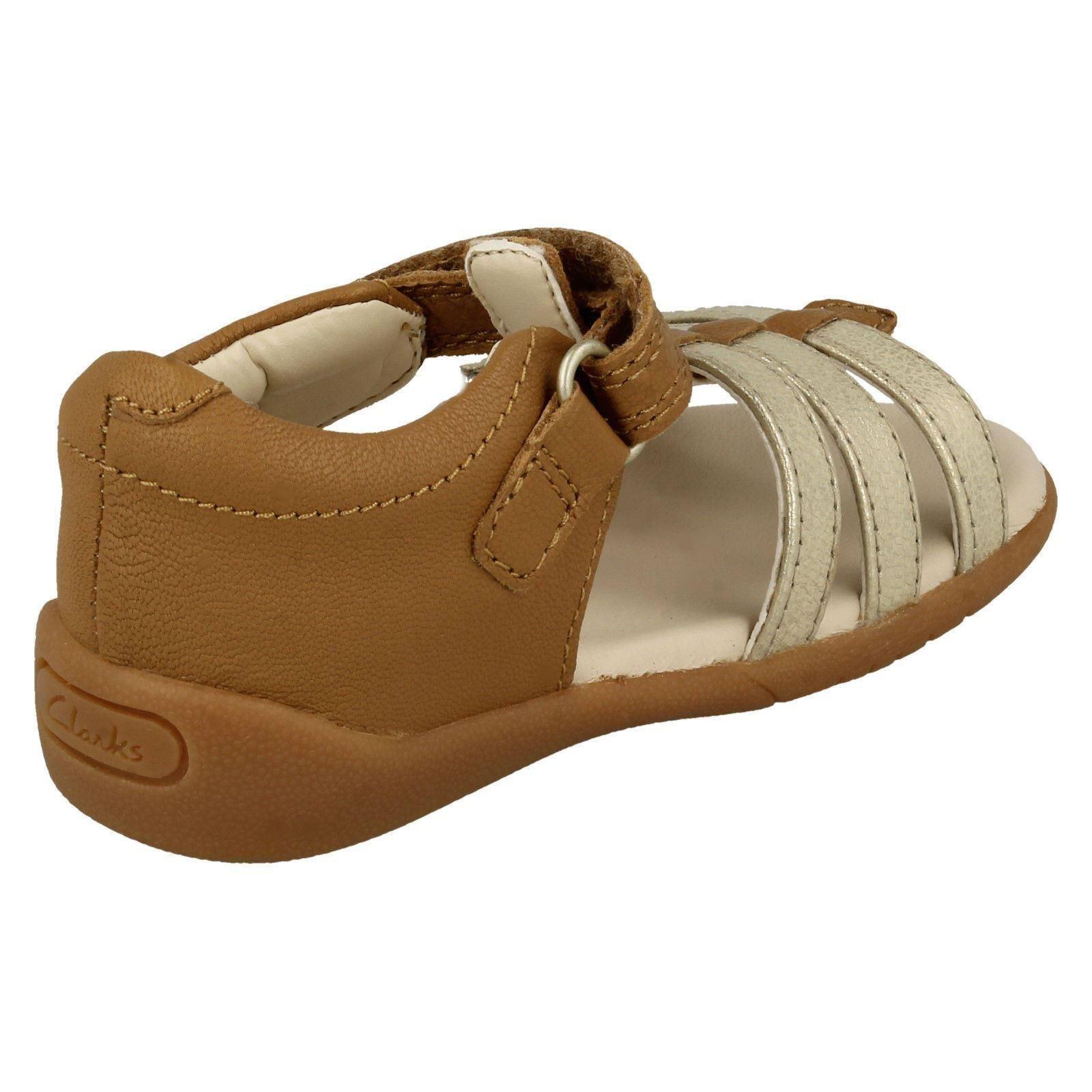 Girls Clarks Stylish Open Toe Sandals Zora Spark T