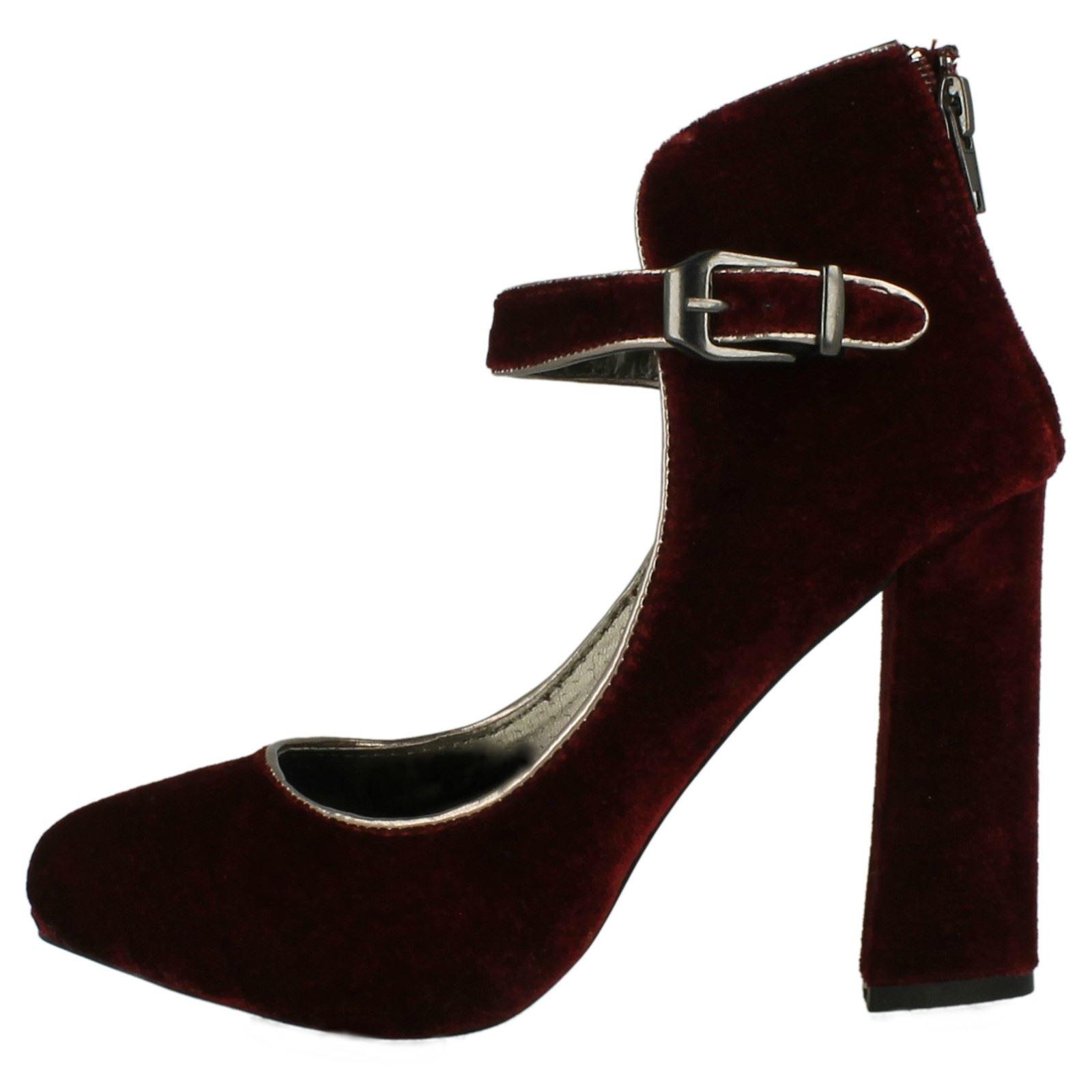 Ladies Anne Michelle Block Heel Shoes L2277