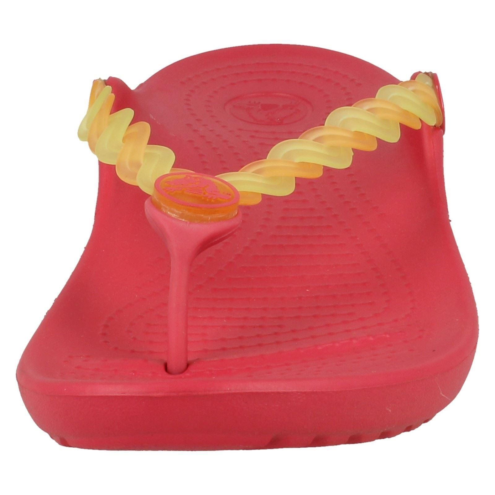 Girls Crocs Toe Post Sandals /'Chmlns Tns Weave Flp/'