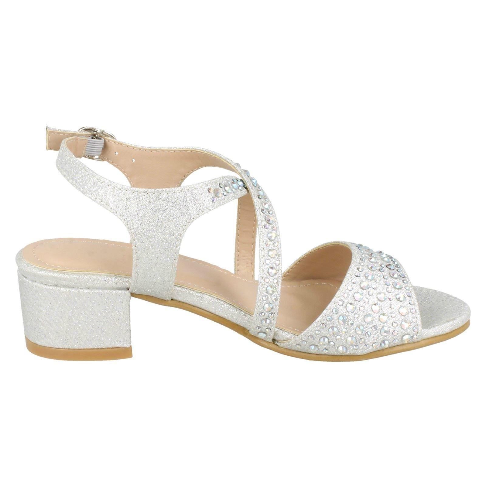 Girls Spot On Mid Heel Mule Sandals