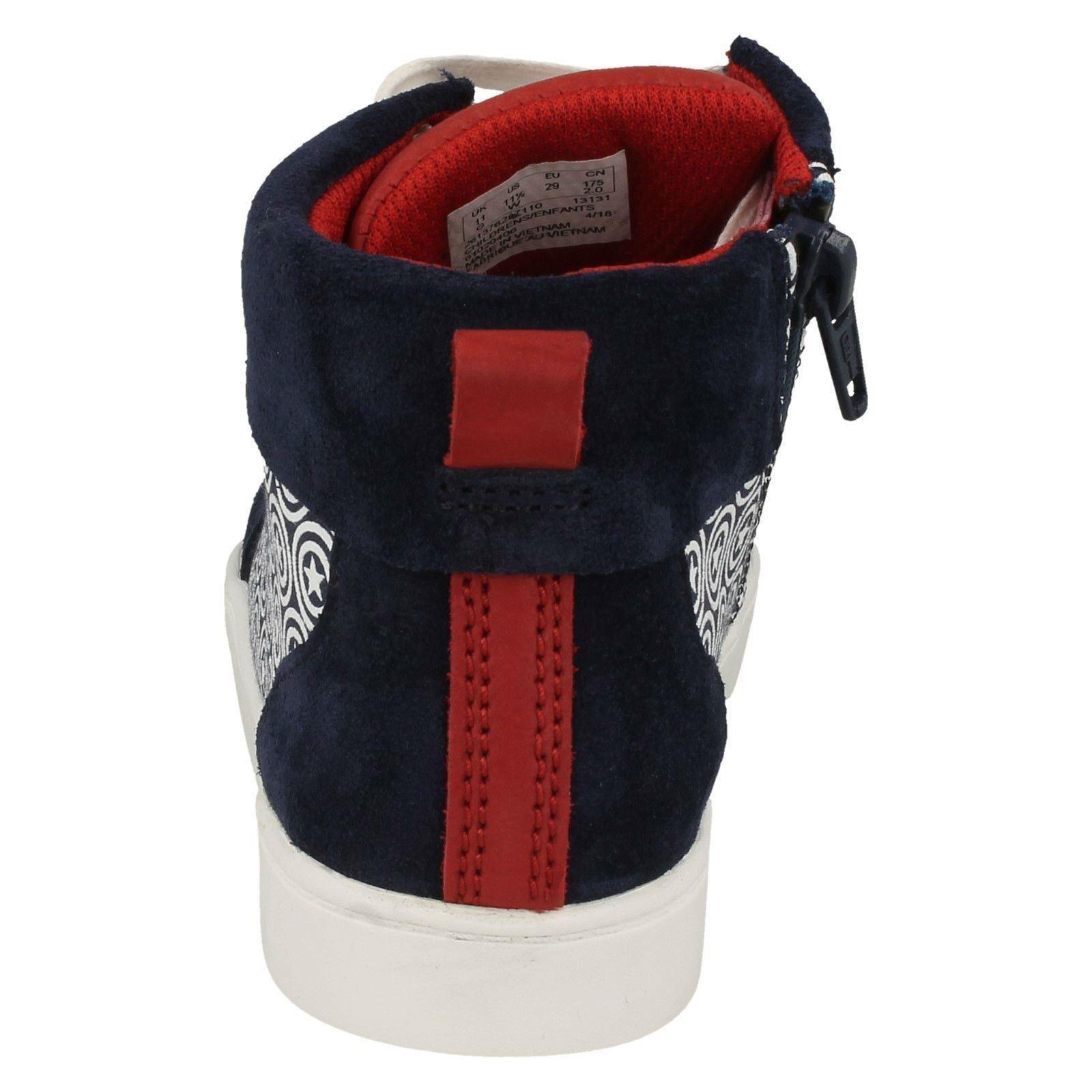Boys Clarks Hi Top Marvel Superhero Casual Shoes /'City Hero Hi/'