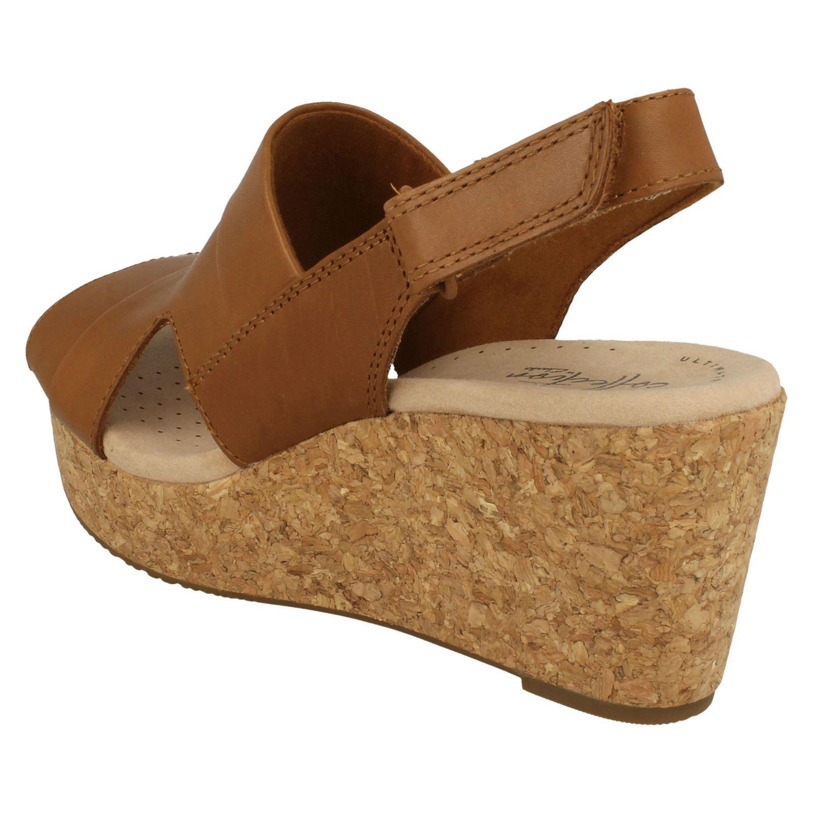 Ladies Clarks Wedge Heeled Sandals Annadel Ivory