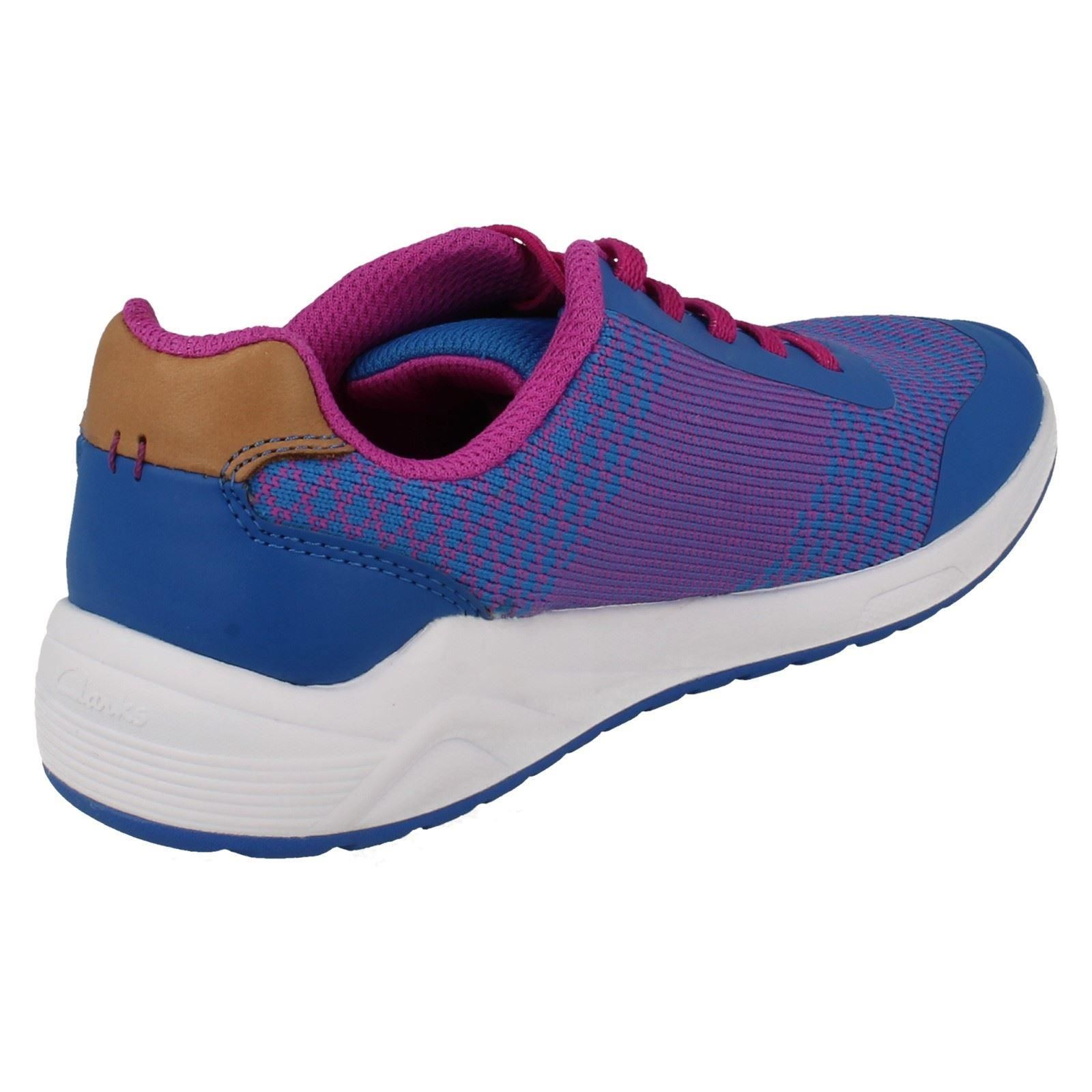 Girls Clarks Casual Trainers Frisby Fun