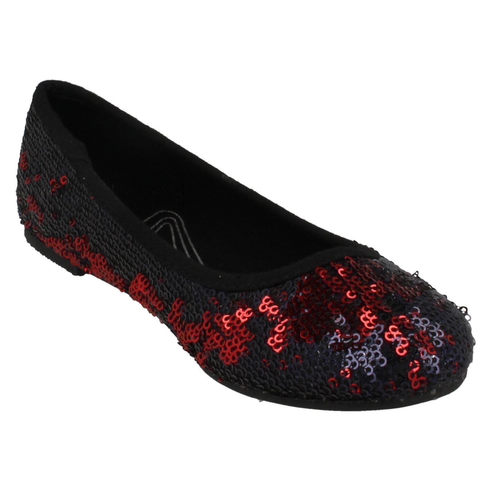 Girls Spot On Ballerina *Flat Shoes*