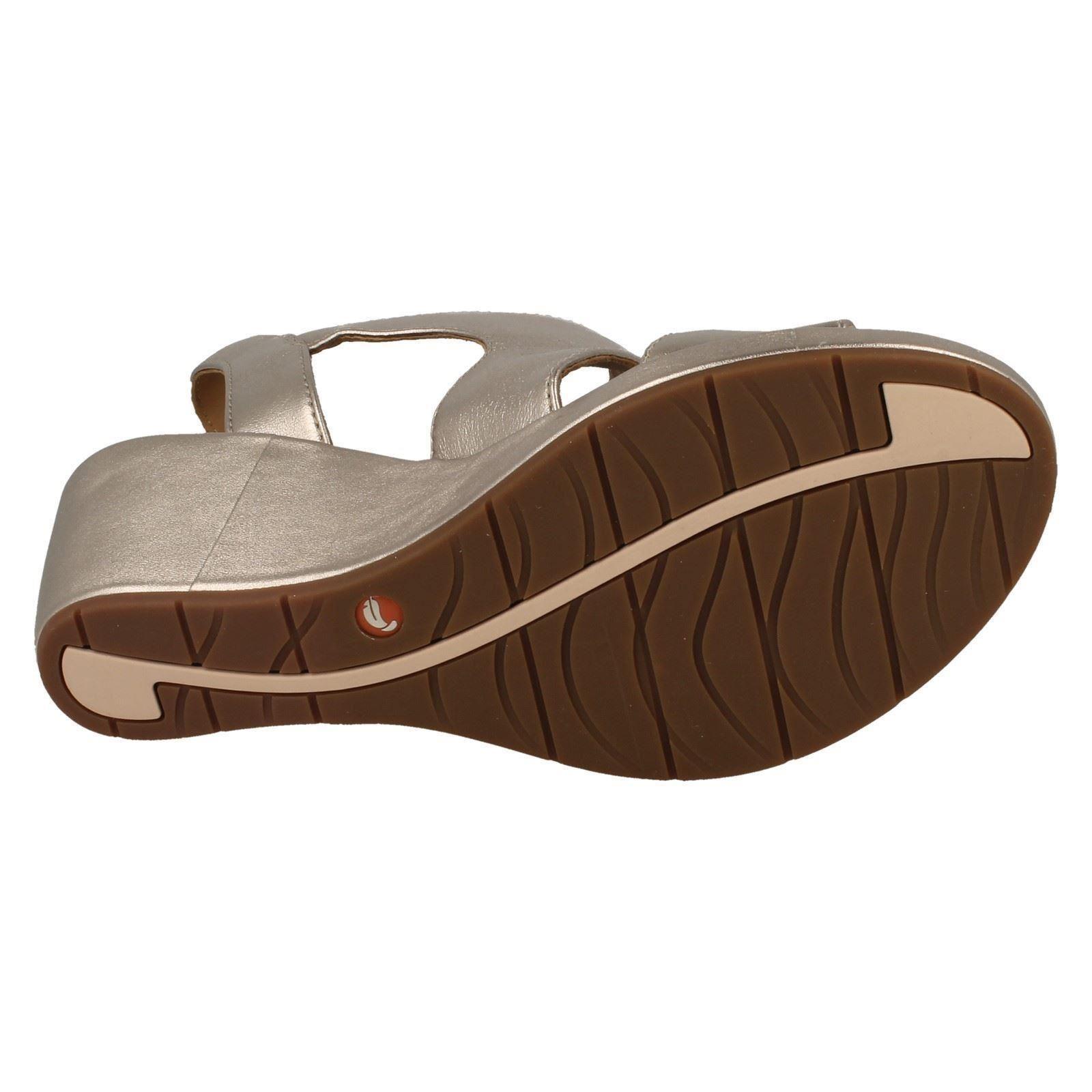 Ladies Clarks Sling Back Wedge Heeled Sandals /'Un Plaza Sling/'