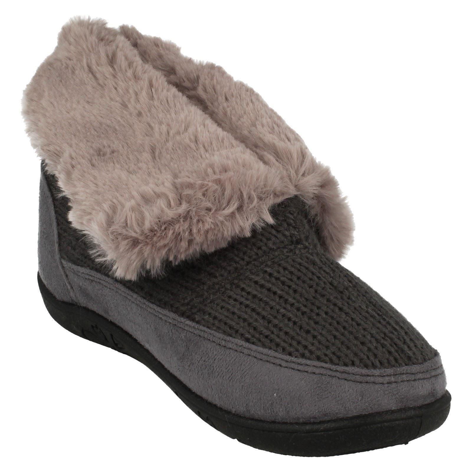 Eden /'Ladies Padders/' Memory Foam Boot Slippers