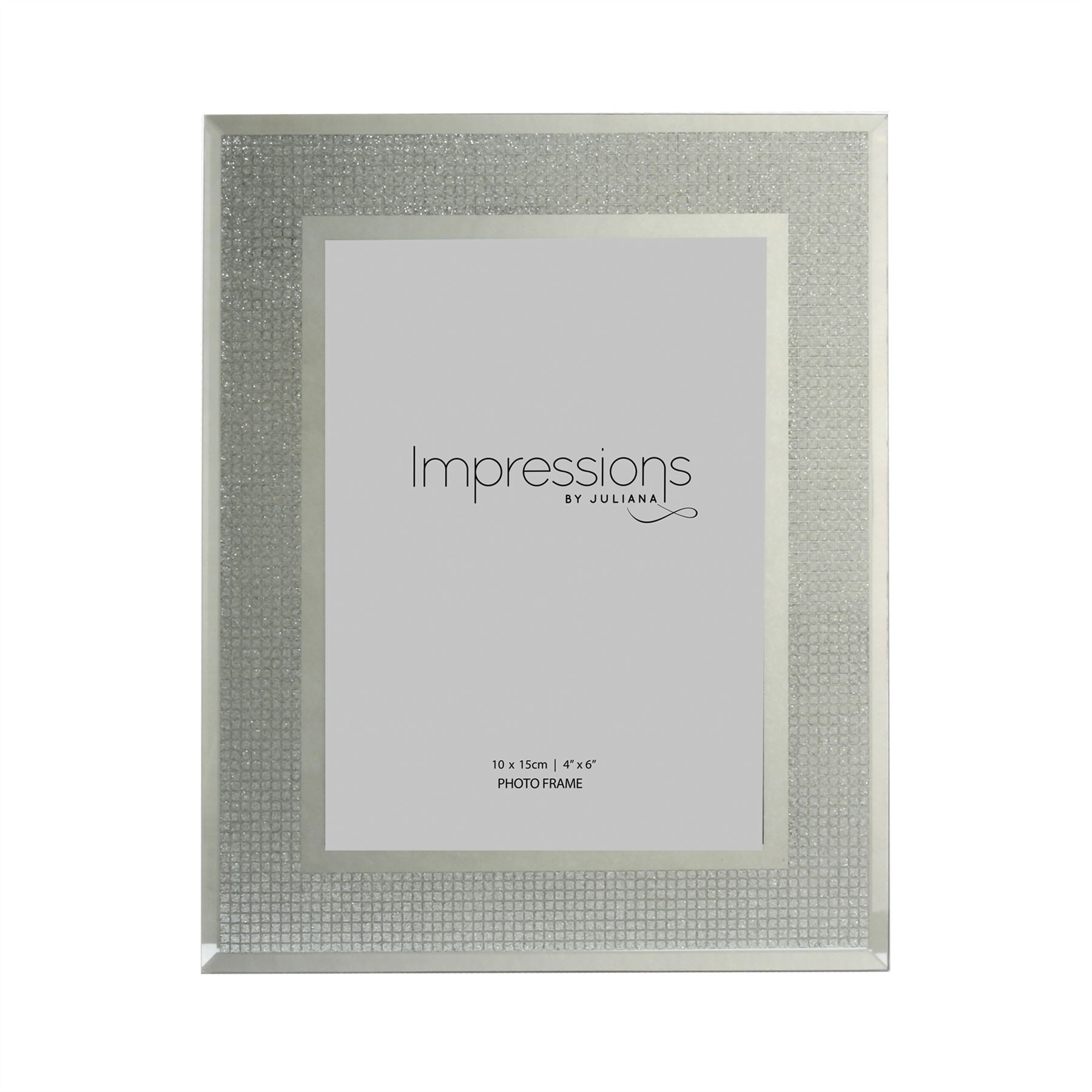 Impressions by Juliana Glass Frame with Glitter Crystal Squares Different Sizes