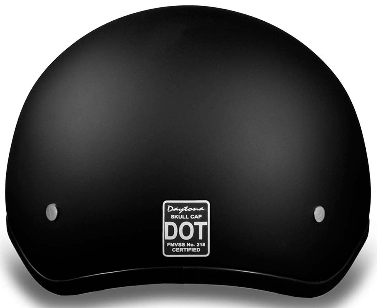 Daytona Skull Cap Half Helmet Slim Line Solid DOT Approved 3XS-4XL