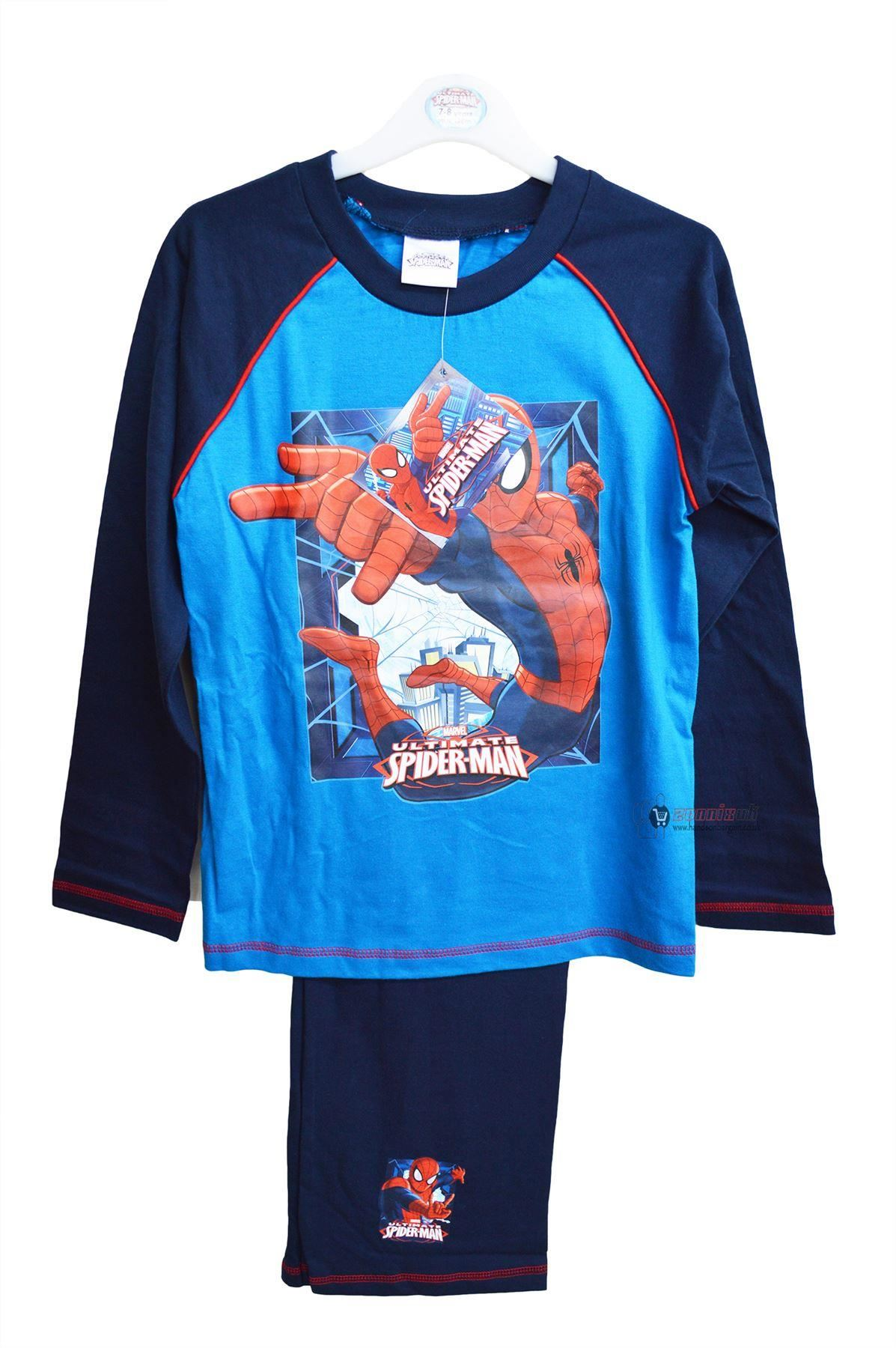 Kids Girls Boys Spiderman Disney Princess Pyjama Sets Long Sleeves Nightwear New