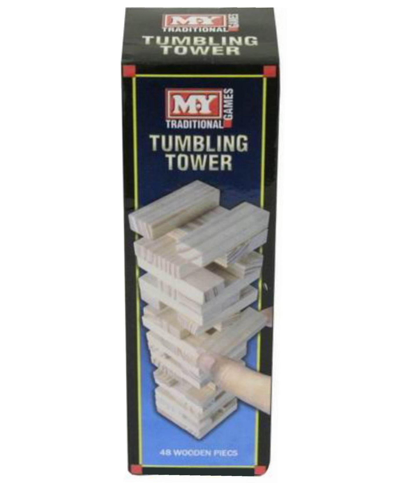 Tumbling Tower Mini to Giant Wooden Stacking Block Tower Classic Family Fun Game