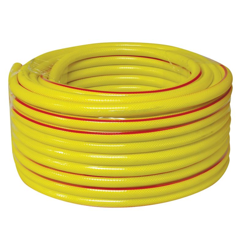 15m 30m 50m Reinforced Tough No Kink Garden Hose Reel Pipe Water Soaker