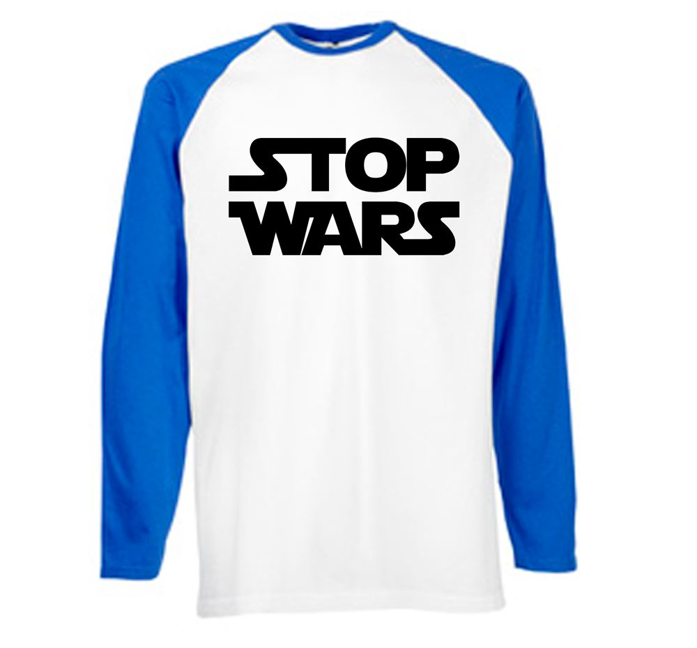 ALM786-Mens Novelty t shirts Stop Wars tshirts-Novelty gifts