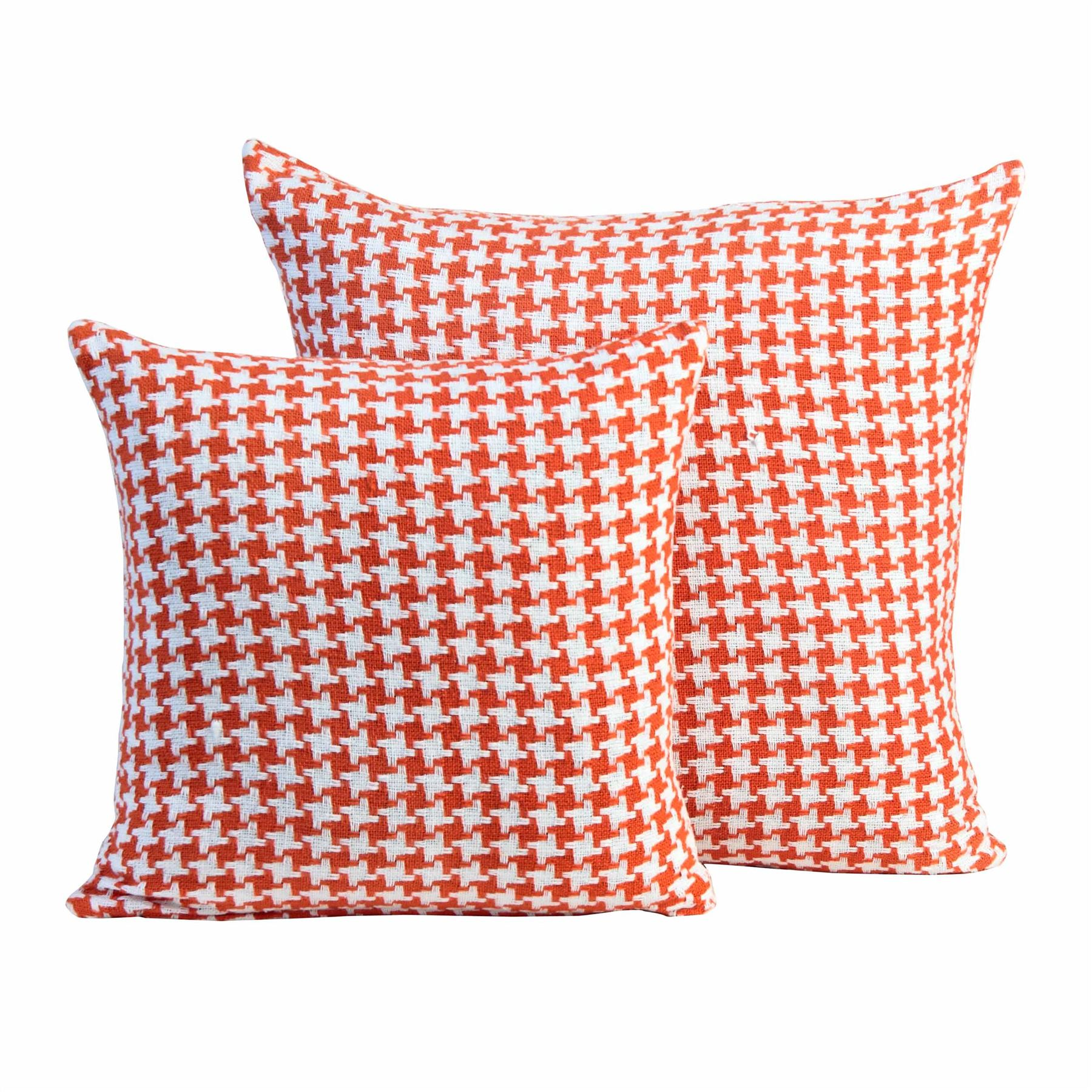 100/% Cotton Houndstooth Decorative Scatter Cushion Cover